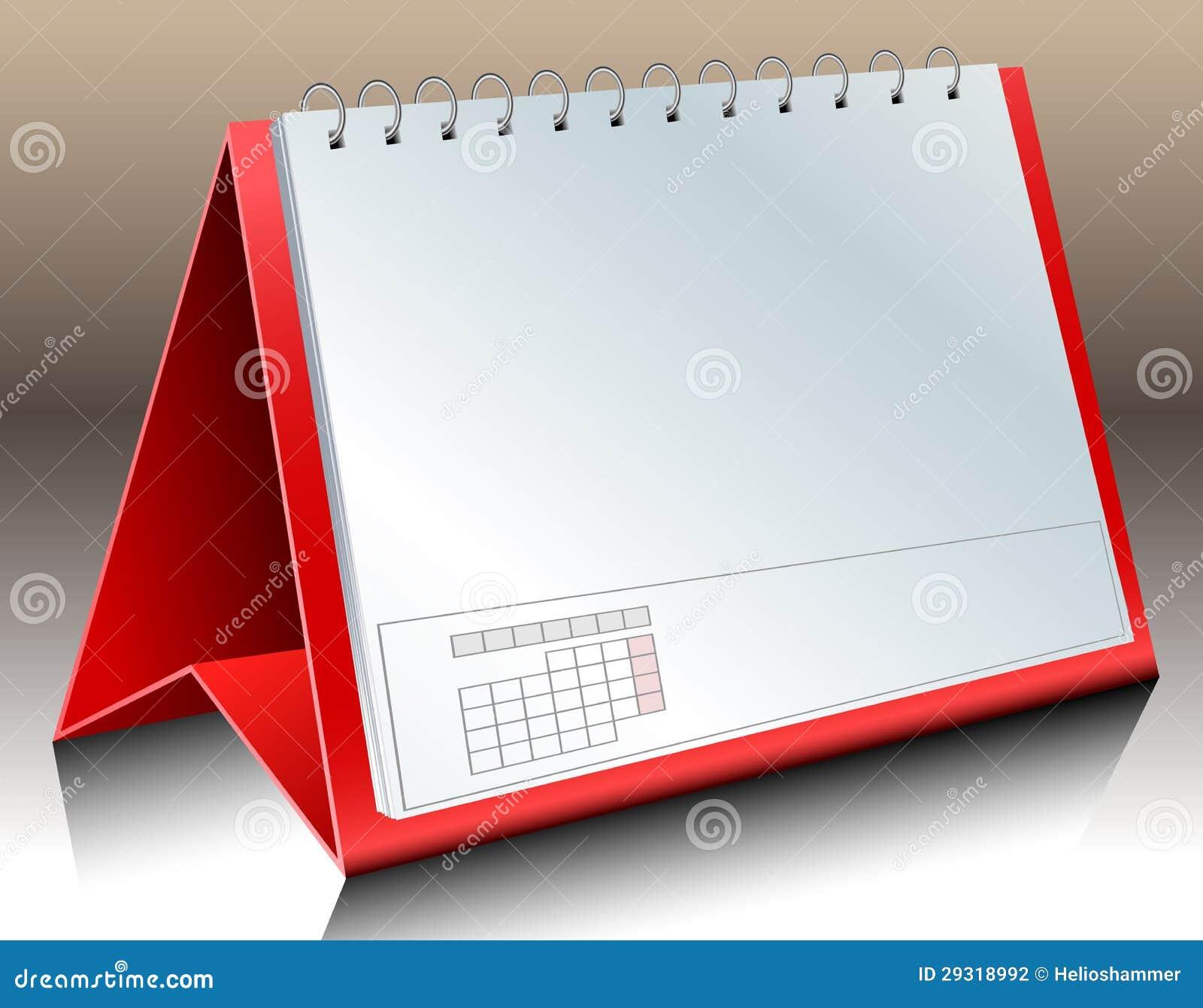 Пустой календар стола