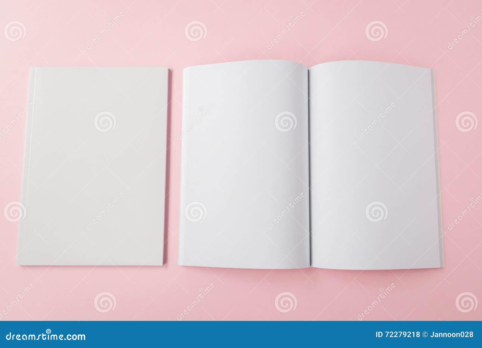 Download Пустой каталог, брошюра, кассеты, насмешка книги вверх Стоковое Фото - изображение насчитывающей печатание, дневник: 72279218