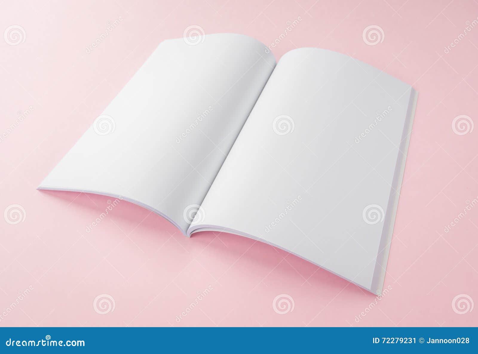 Download Пустой каталог, брошюра, кассеты, насмешка книги вверх Стоковое Изображение - изображение насчитывающей пусто, уговариваний: 72279231