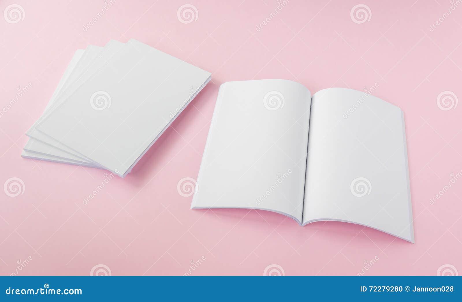 Download Пустой каталог, брошюра, кассеты, насмешка книги вверх Стоковое Фото - изображение насчитывающей офис, словесность: 72279280