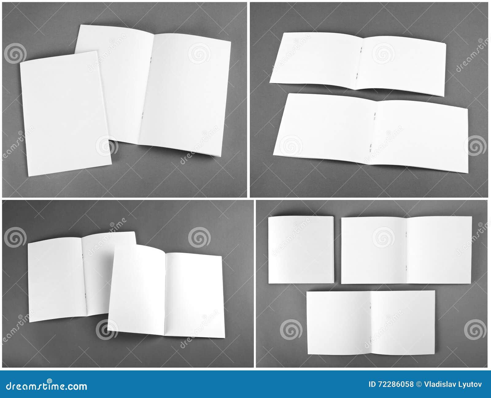 Download Пустой каталог, брошюра, кассеты, насмешка книги вверх Стоковое Фото - изображение насчитывающей крен, экземпляр: 72286058