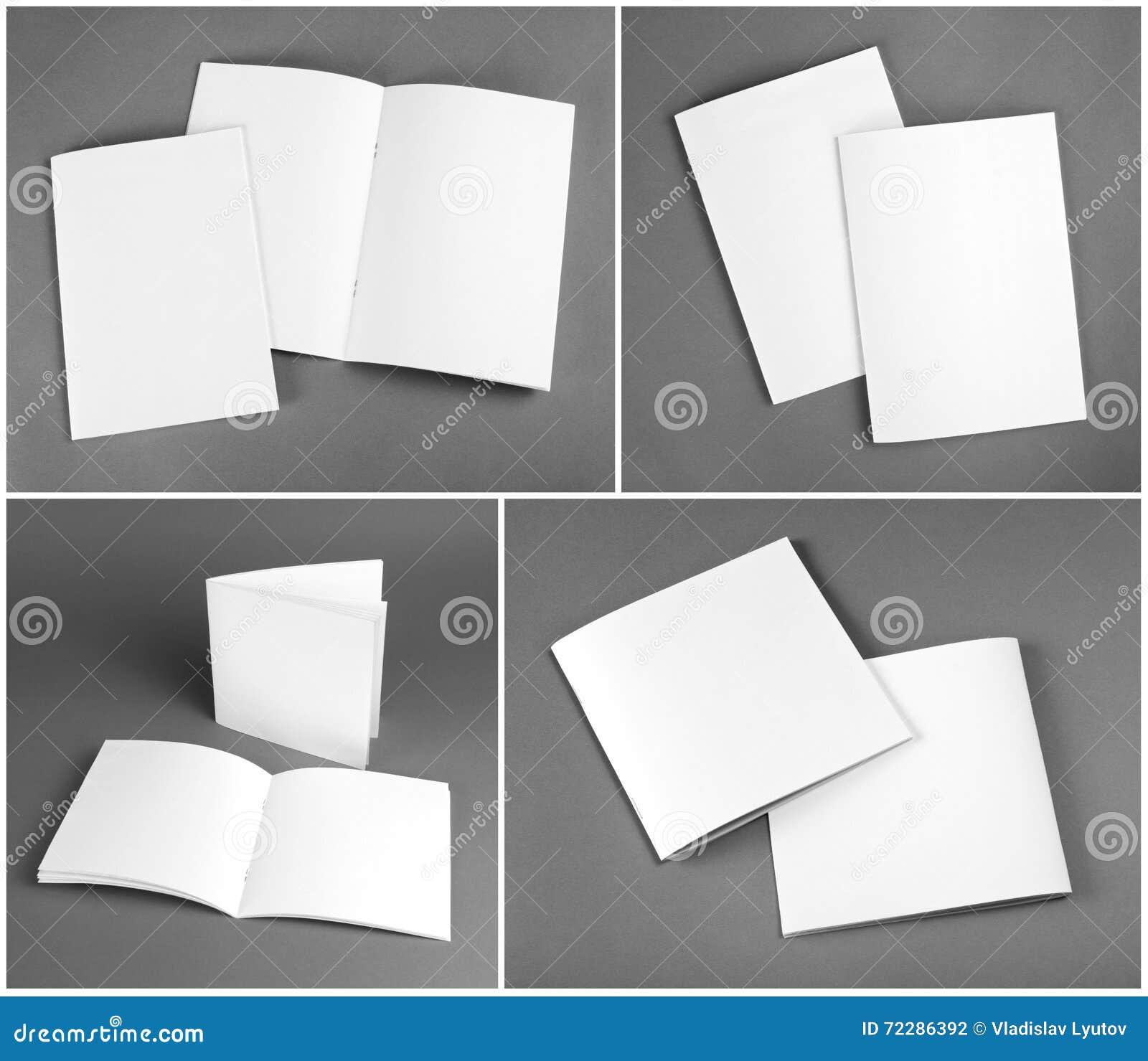Download Пустой каталог, брошюра, кассеты, насмешка книги вверх Стоковое Фото - изображение насчитывающей чтение, страница: 72286392