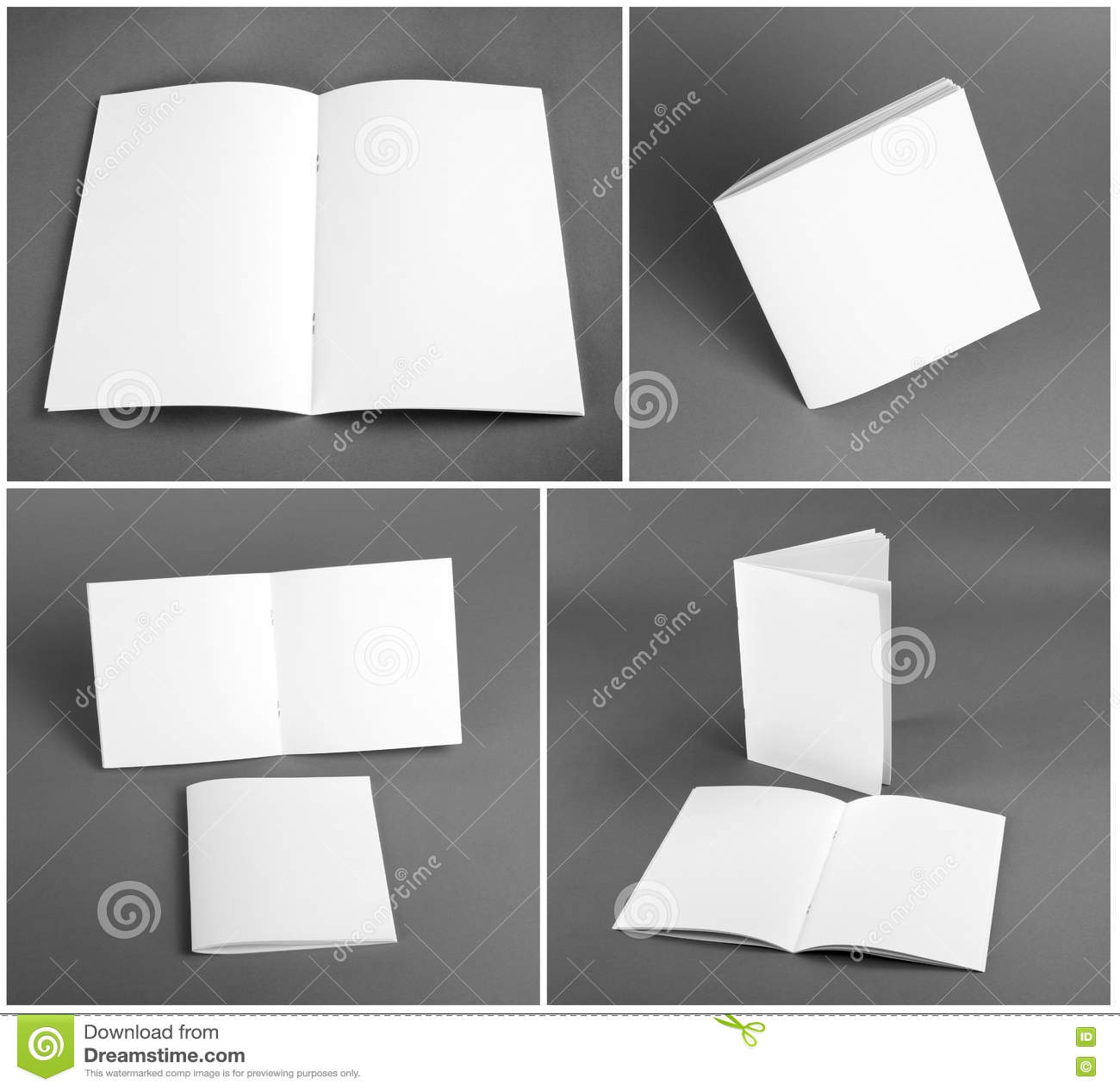 Download Пустой каталог, брошюра, кассеты, насмешка книги вверх Стоковое Изображение - изображение насчитывающей документ, предмет: 72286525