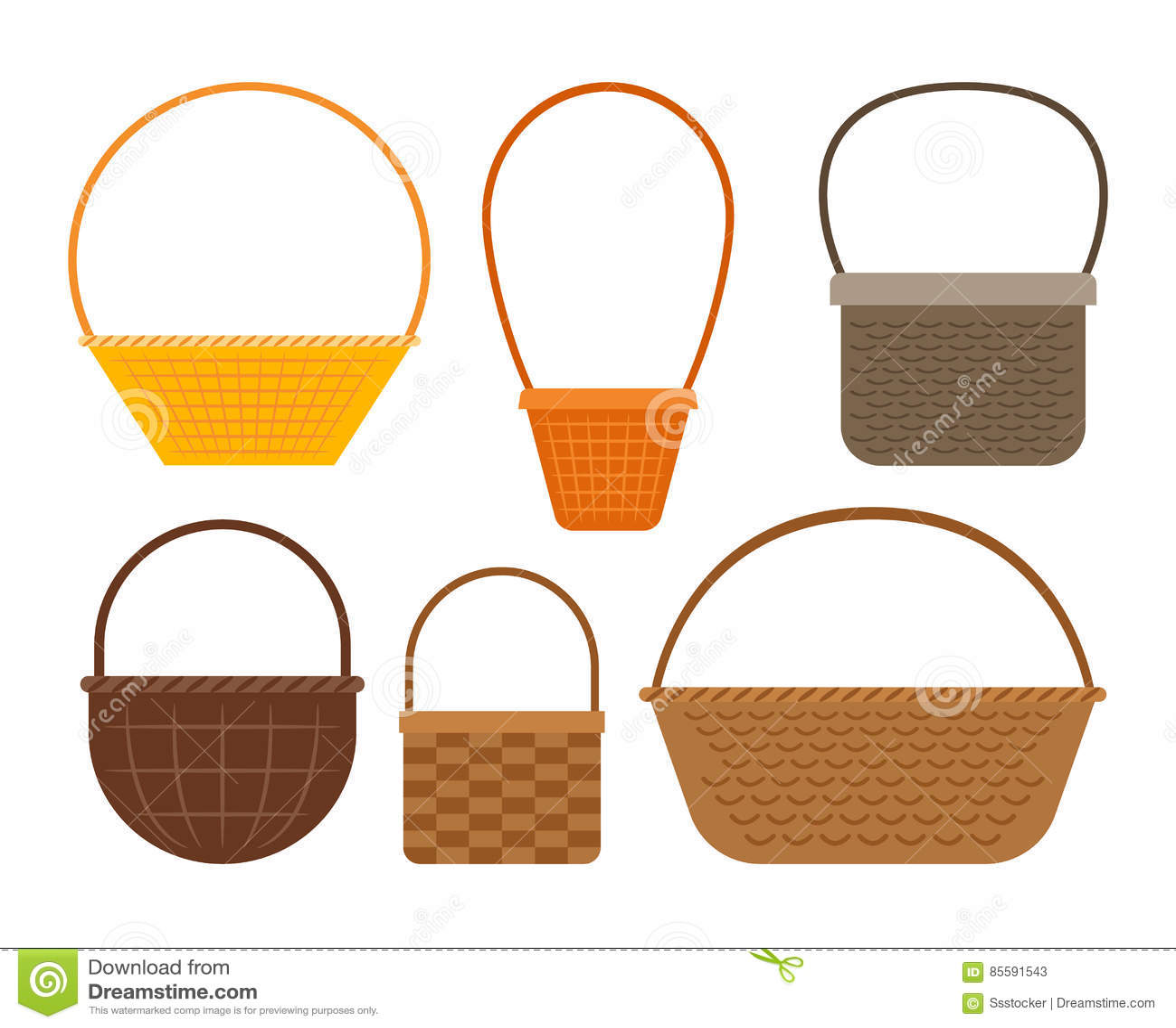 Пустой комплект корзины пикника