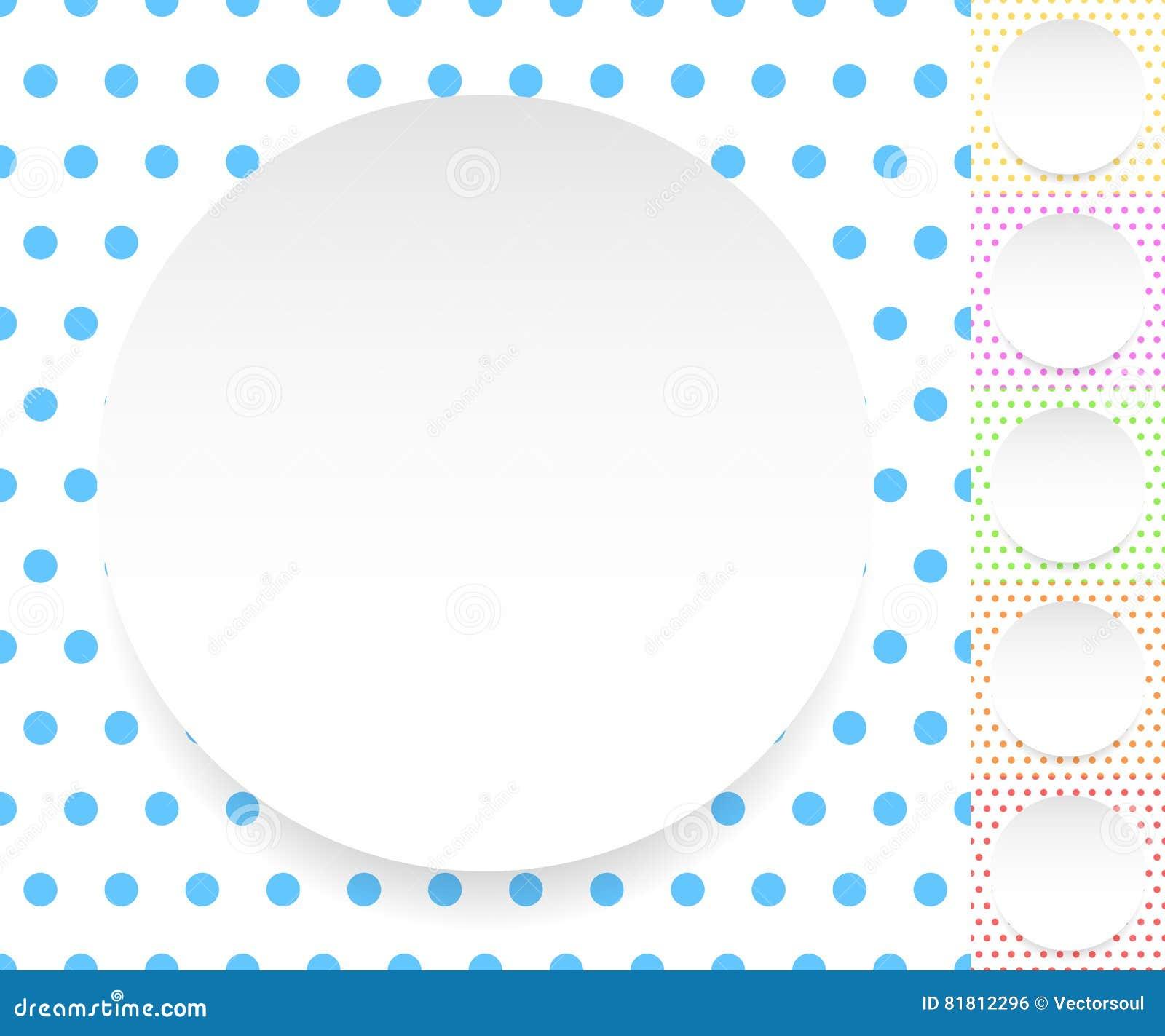 Пустой круг, лист, диск над картиной polkadot/предпосылкой