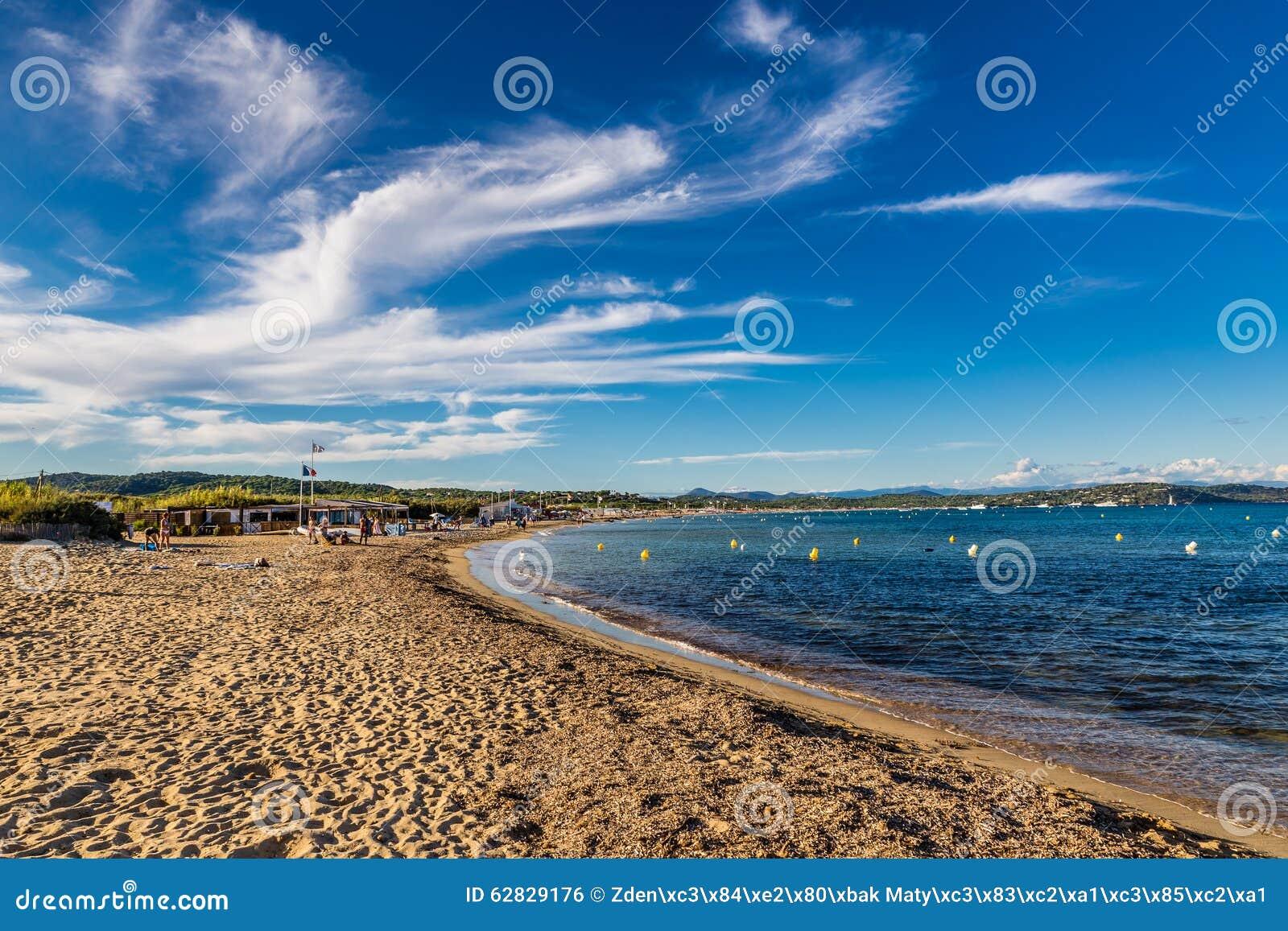 Пустой Пляж-Святой Tropez Pampelonne, Франция