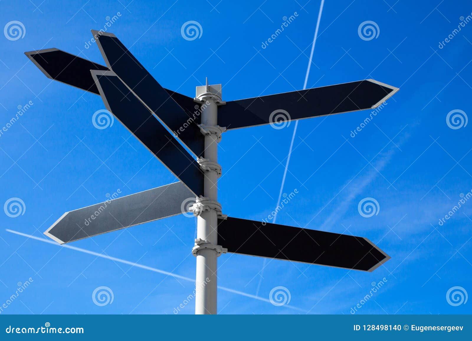 Пустой guidepost с ярлыками сформированными стрелкой