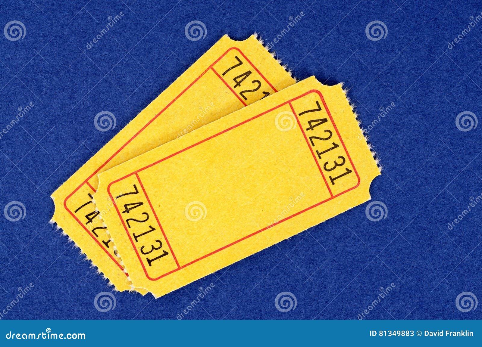 Пустые желтые билеты кино, 2, голубая предпосылка