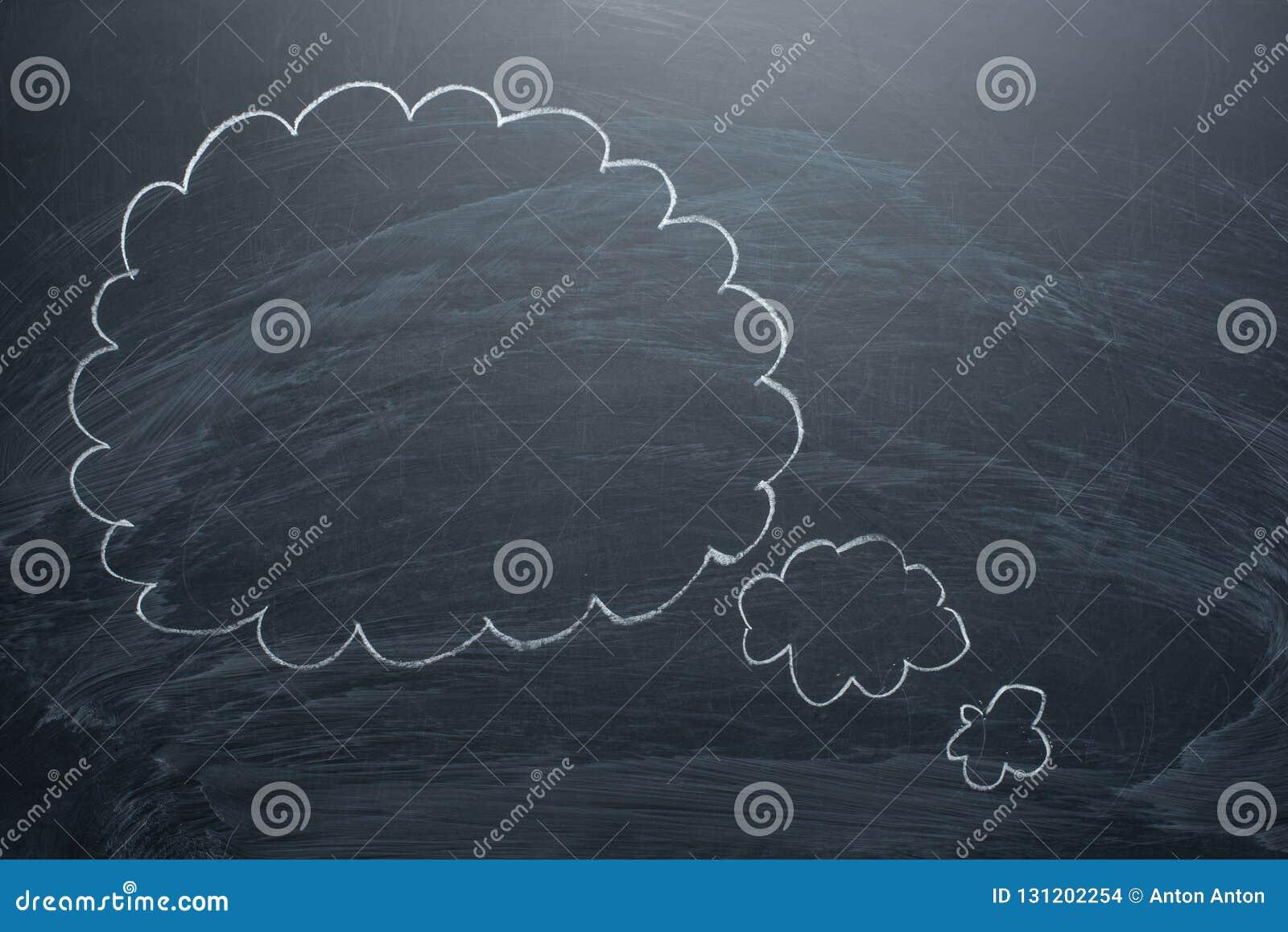 Пустые облака на классн классном, концепции доски для запутанности, воодушевленность и решения