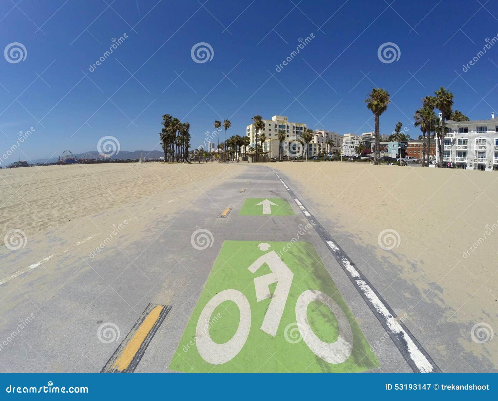 Путь велосипеда пляжа Санта-Моника