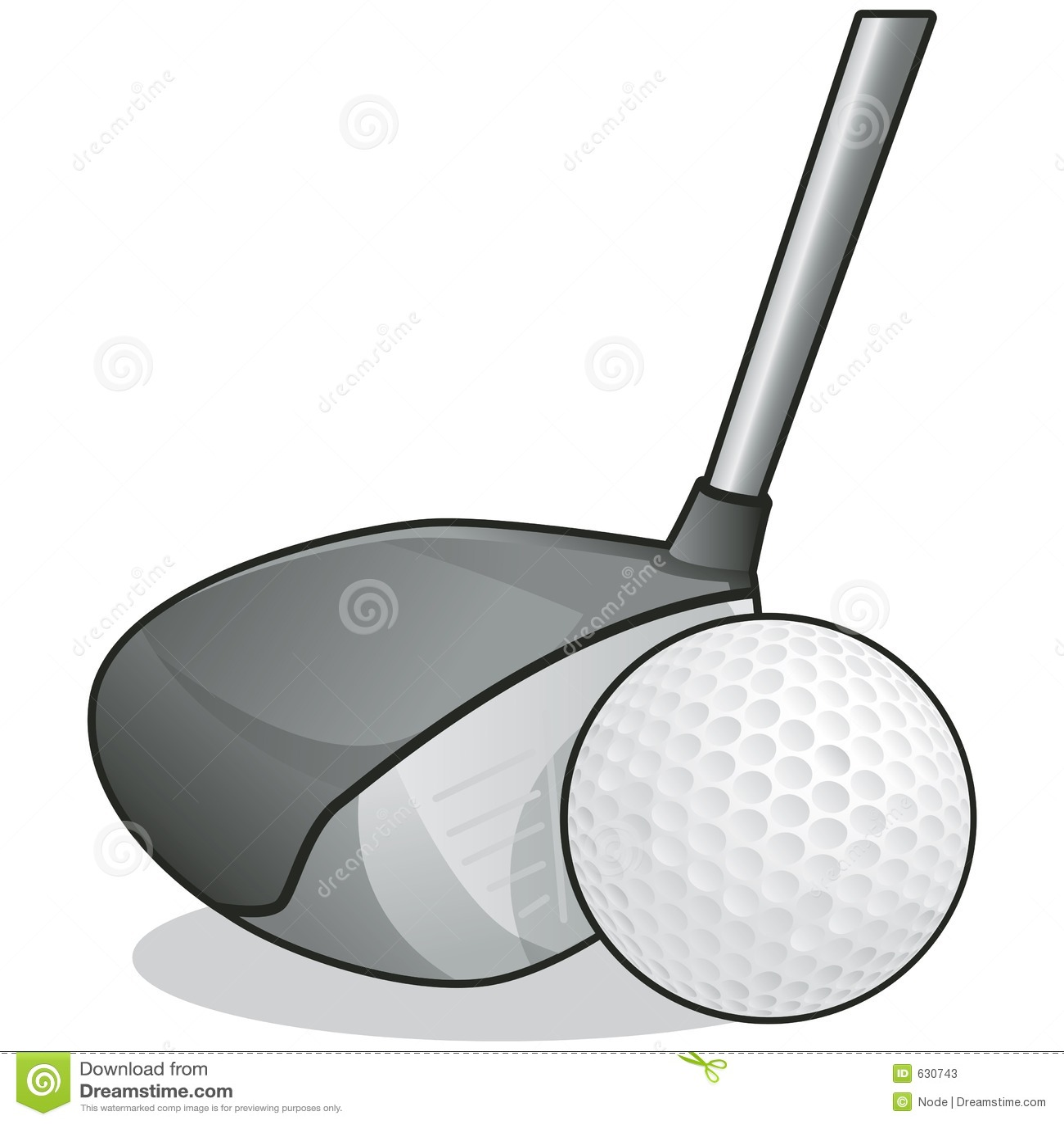 Download путь гольфа клуба клиппирования шарика Иллюстрация штока - иллюстрации насчитывающей качание, димпл: 630743