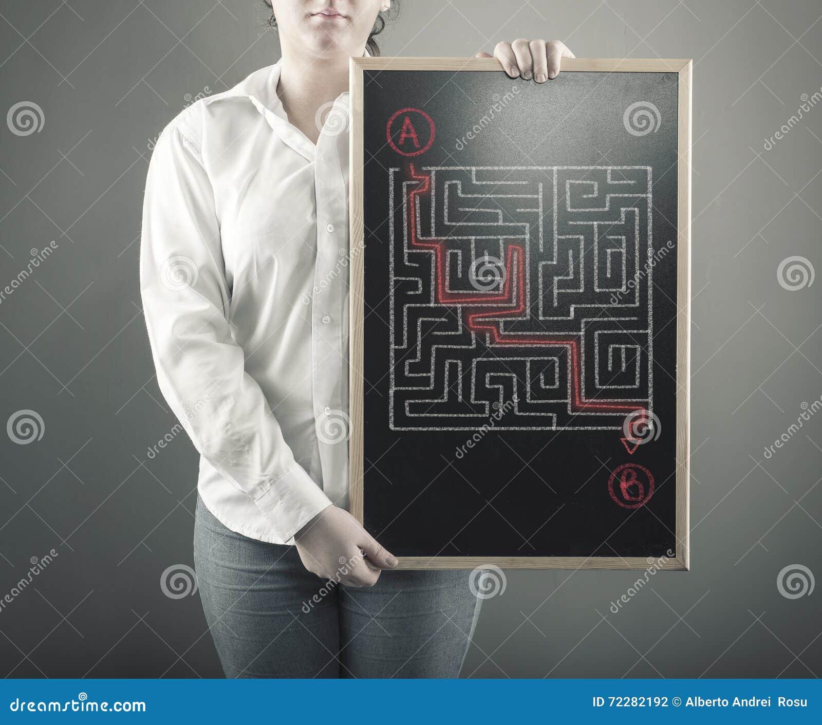 Download Путь через лабиринт стоковое фото. изображение насчитывающей девушка - 72282192