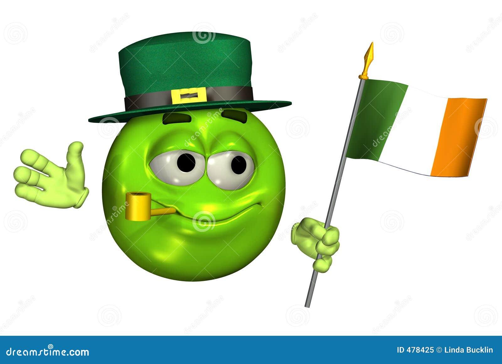 путь leprechaun флага emoticon клиппирования ирландский