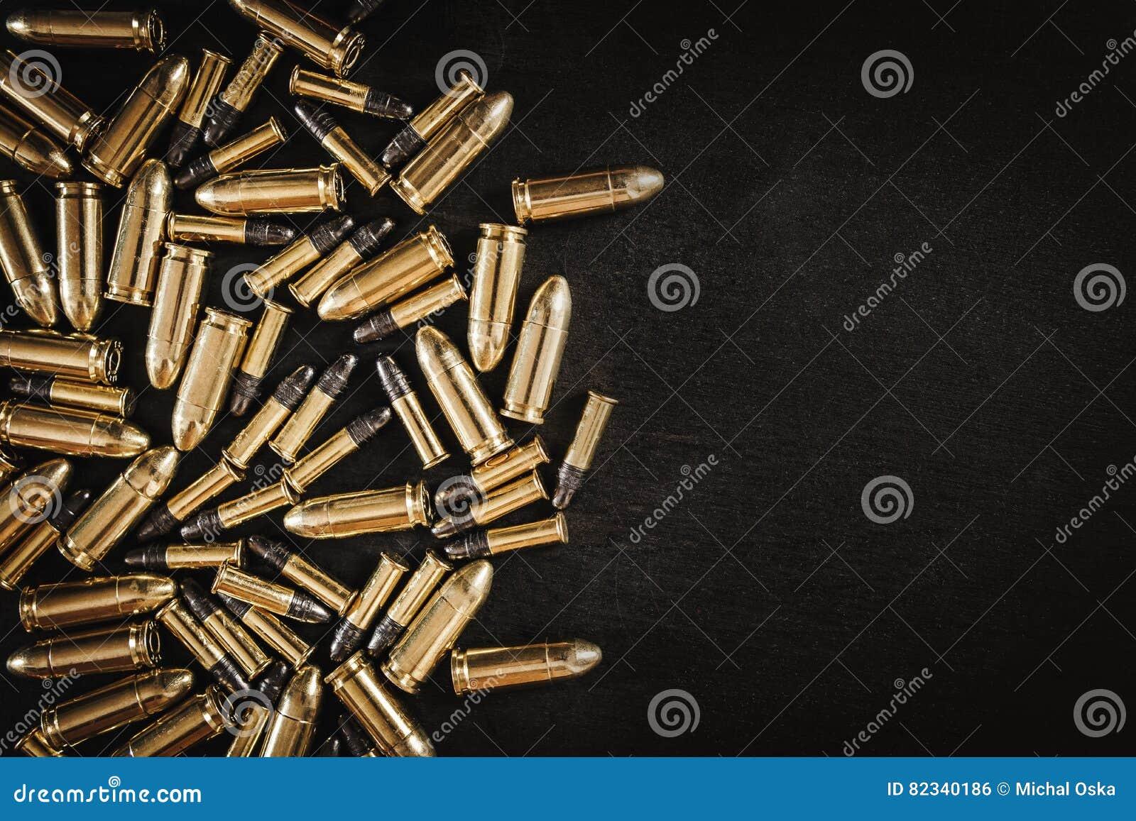 Пули от оружия на таблице