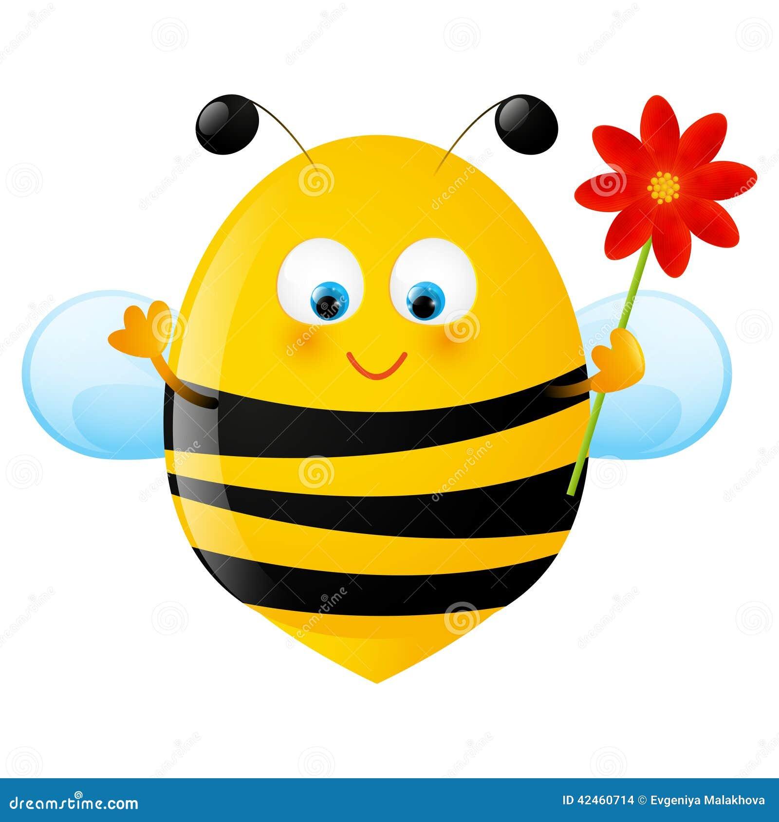 Смешная пчелка рисунок