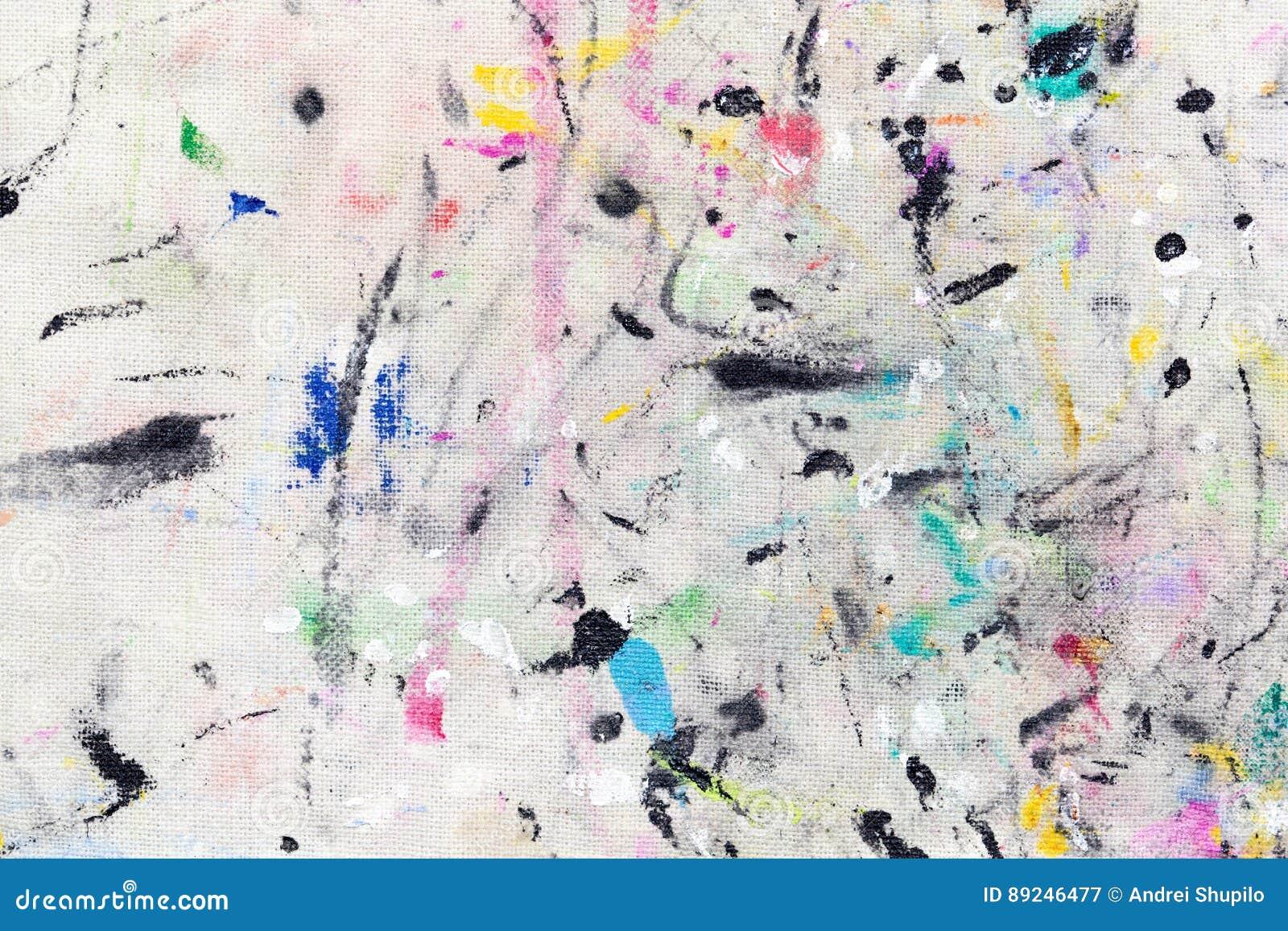 Пятна от пестрой краски на ткани