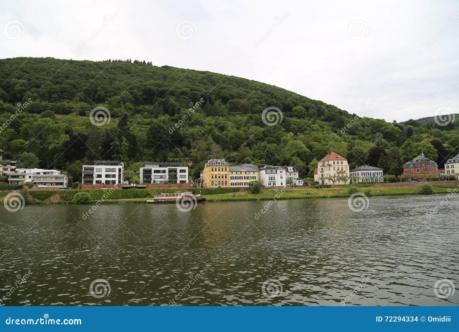 Download Плавать в Реке Neckar редакционное стоковое изображение. изображение насчитывающей люди - 72294334