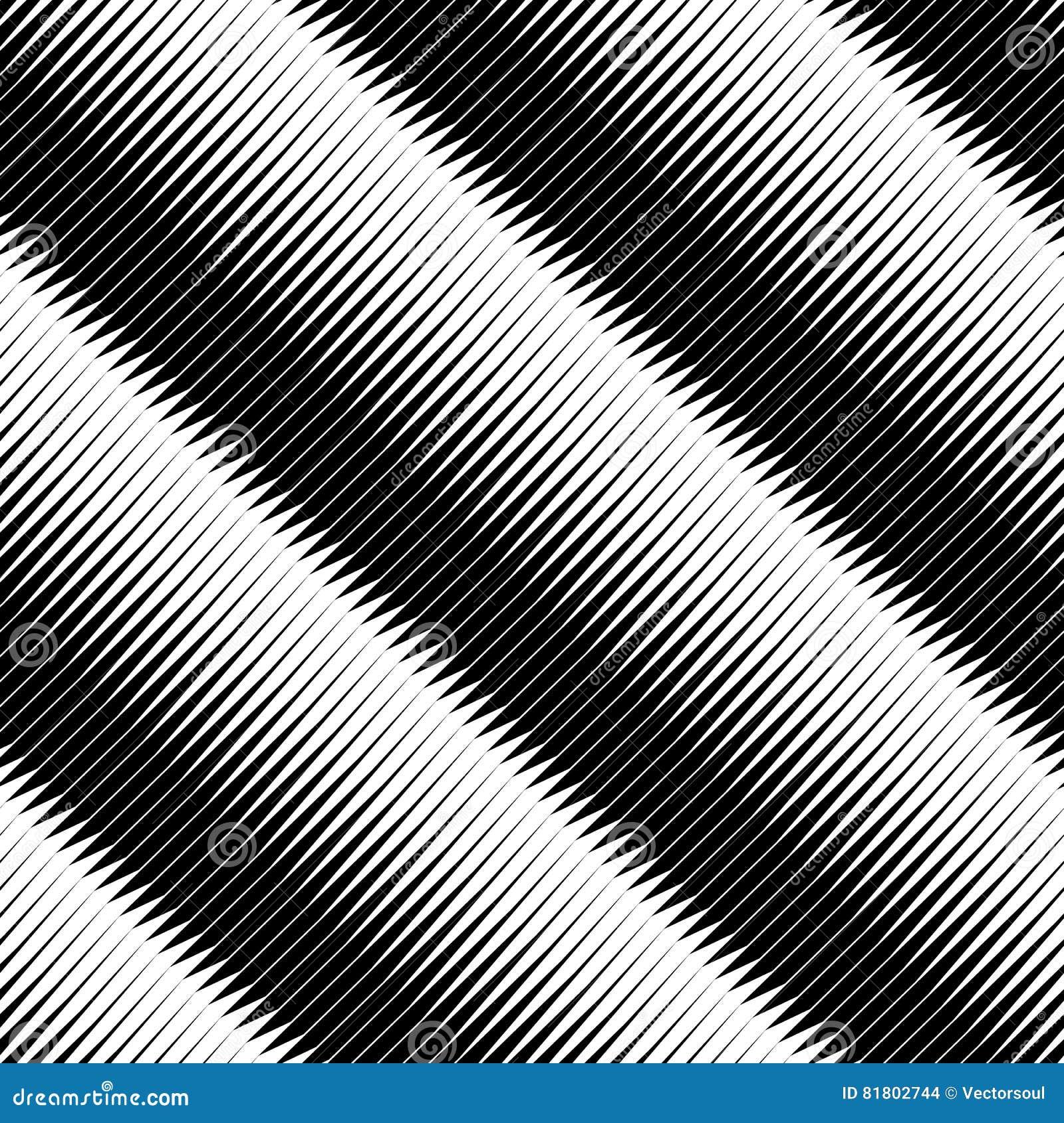 Плавно repeatable геометрическая картина - абстрактный monochrome ба