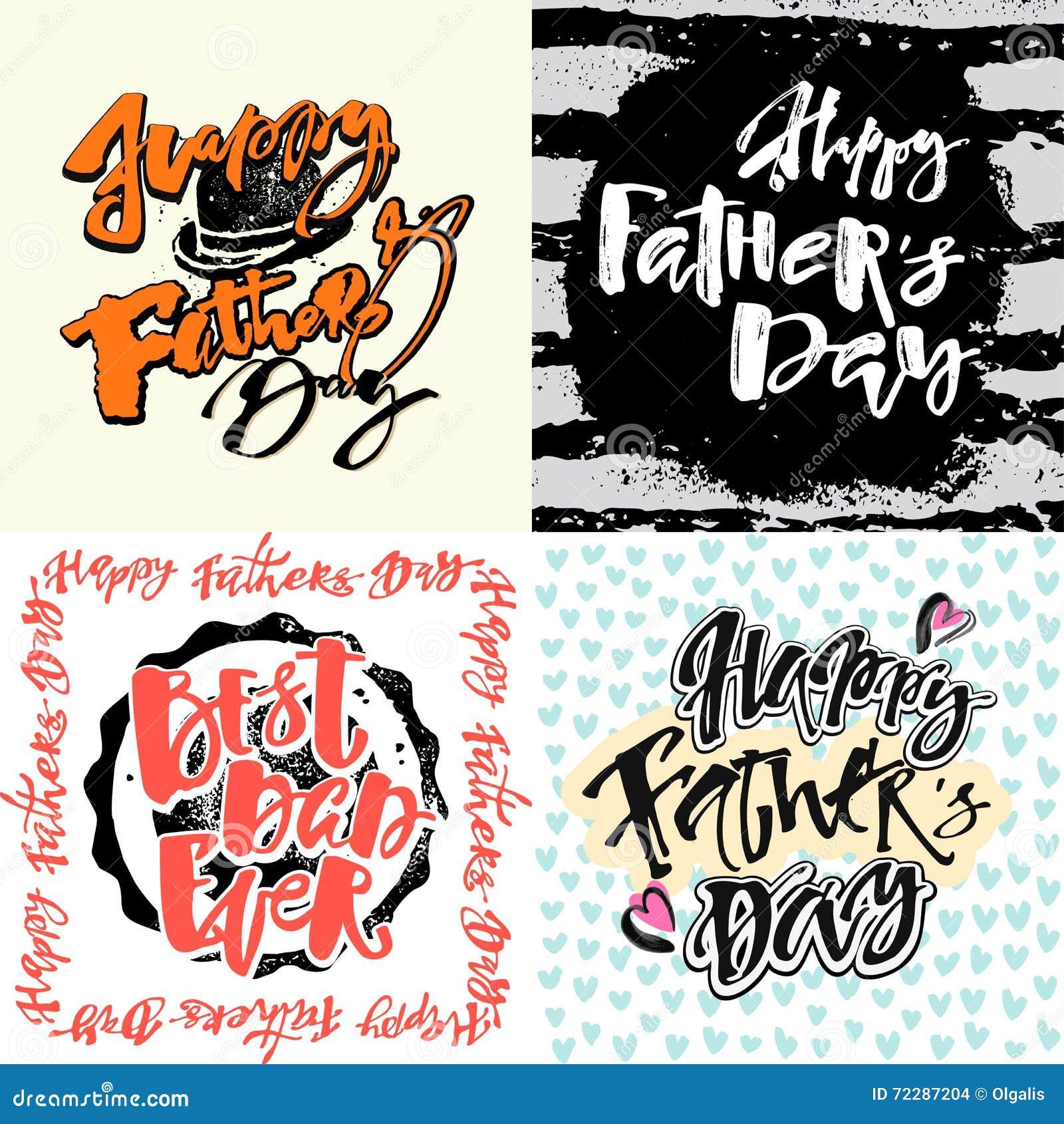 Download Плакаты мотивировки литерности руки концепции дня отцов Иллюстрация вектора - иллюстрации насчитывающей график, чернила: 72287204