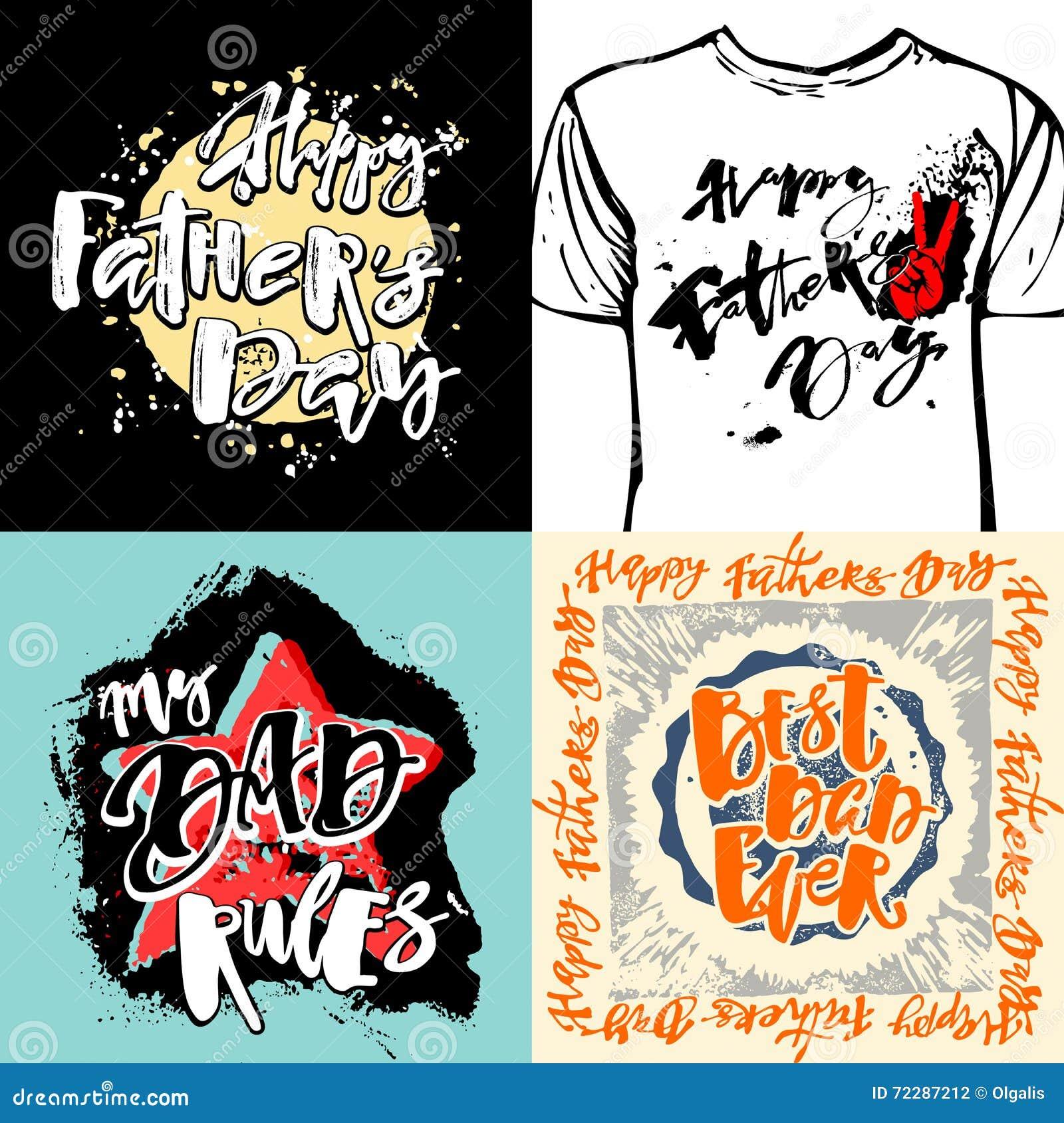 Плакаты мотивировки литерности руки концепции дня отцов