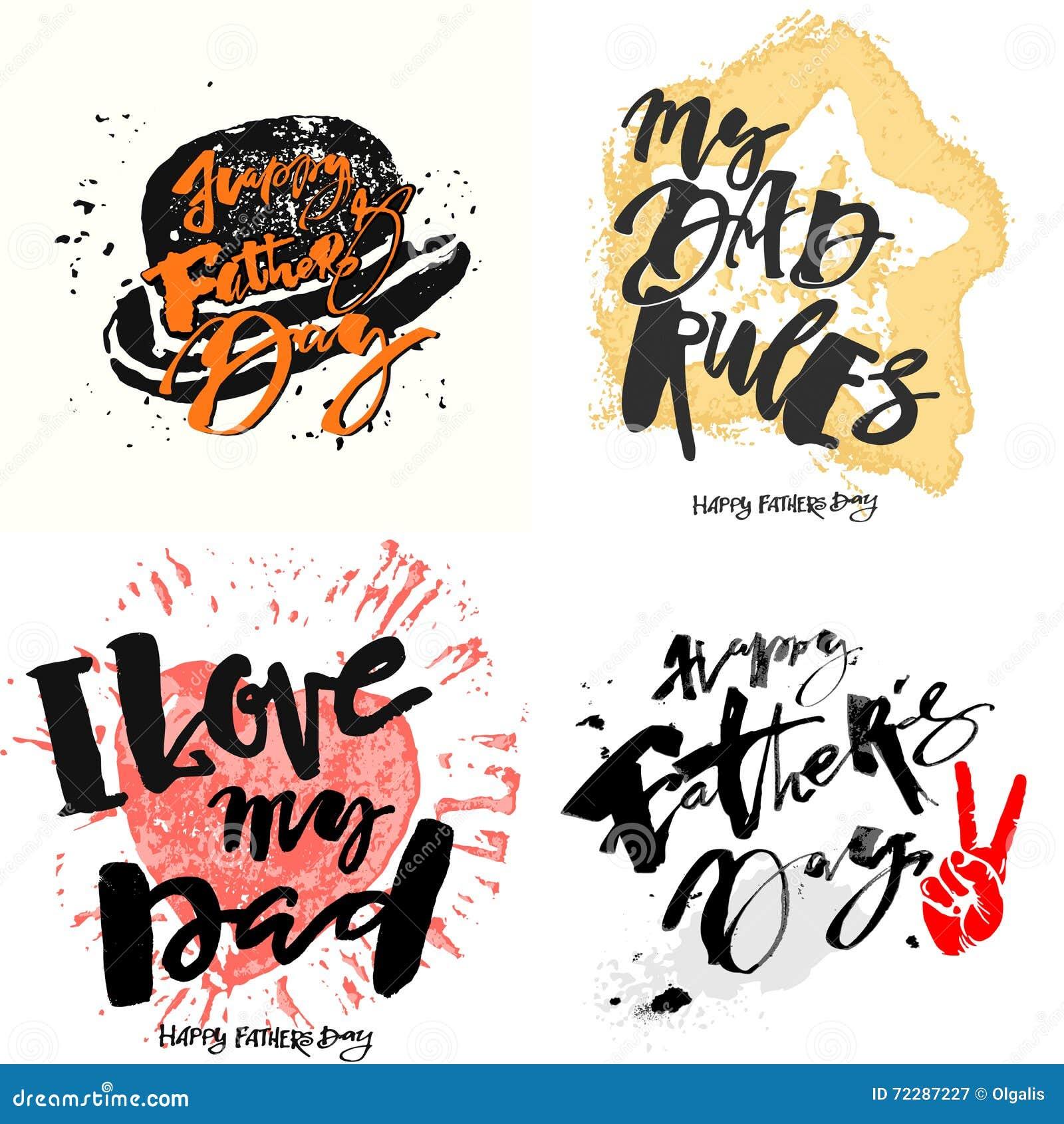 Download Плакаты мотивировки литерности руки концепции дня отцов Иллюстрация вектора - иллюстрации насчитывающей чернила, счастливо: 72287227