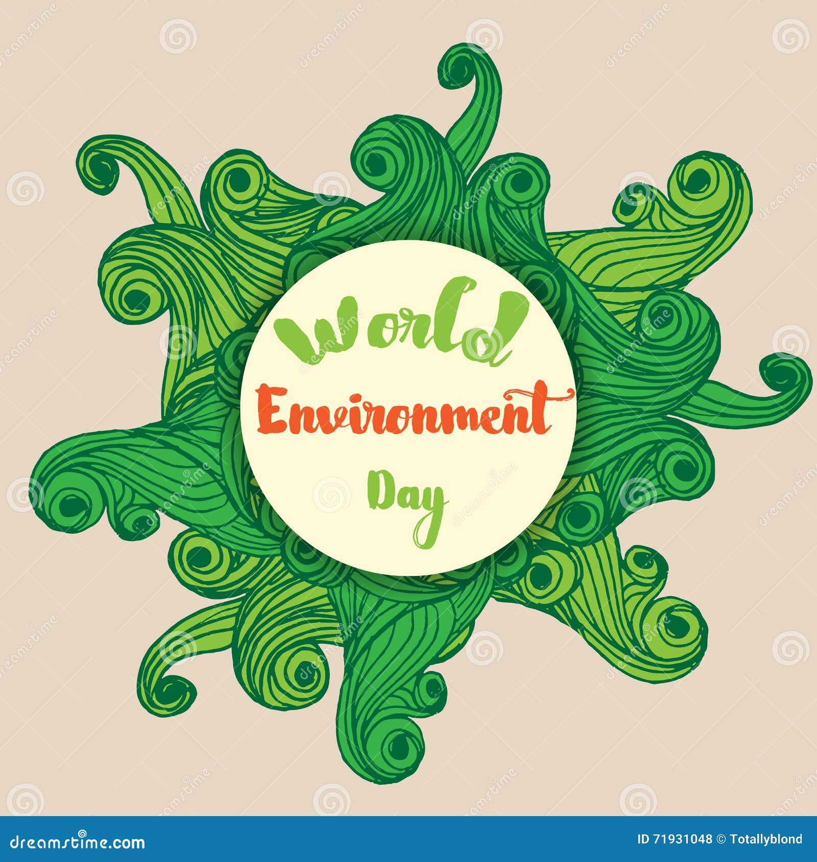 Плакат карточки дня мировой окружающей среды
