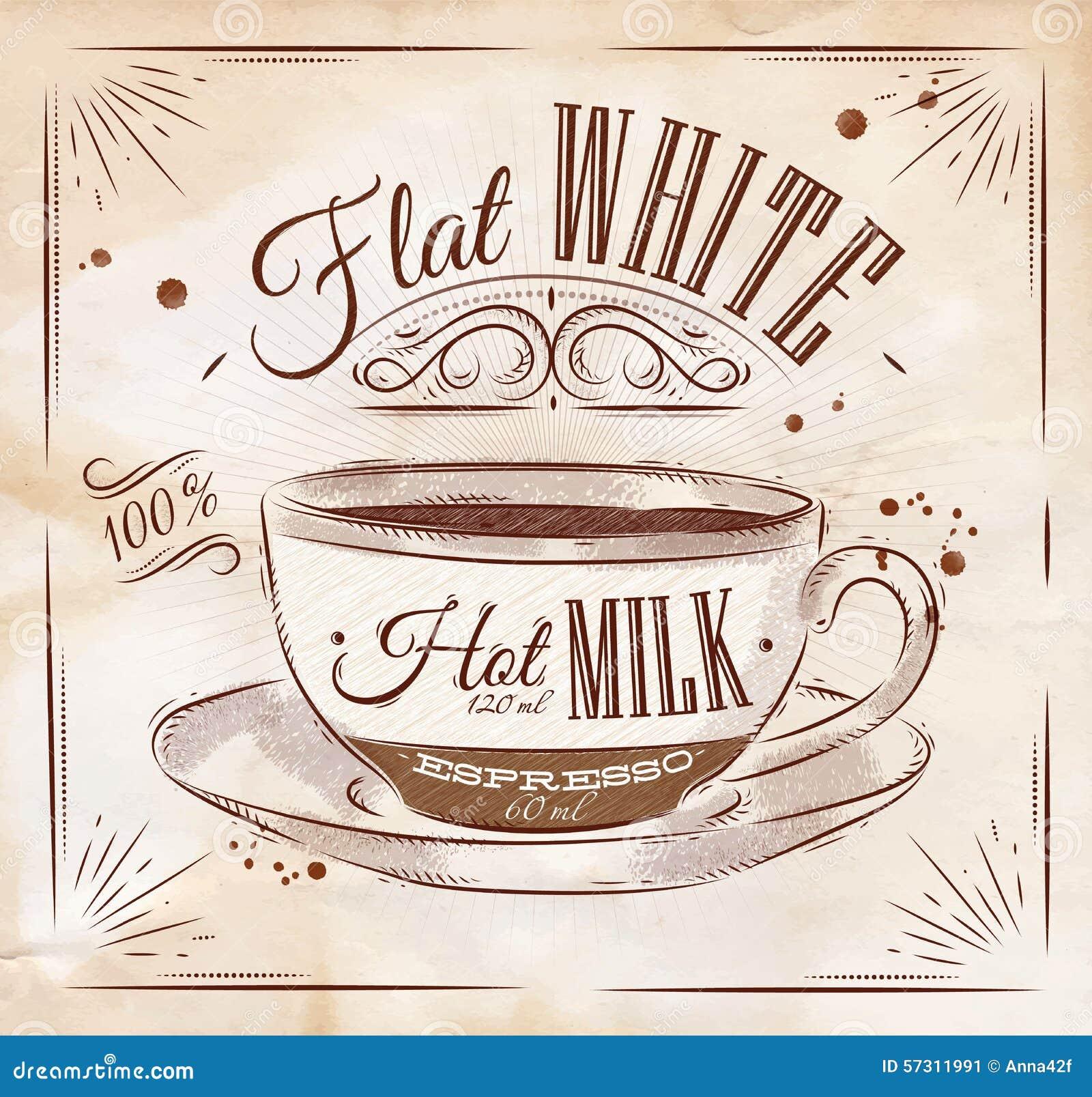 Плакат плоский белый kraft