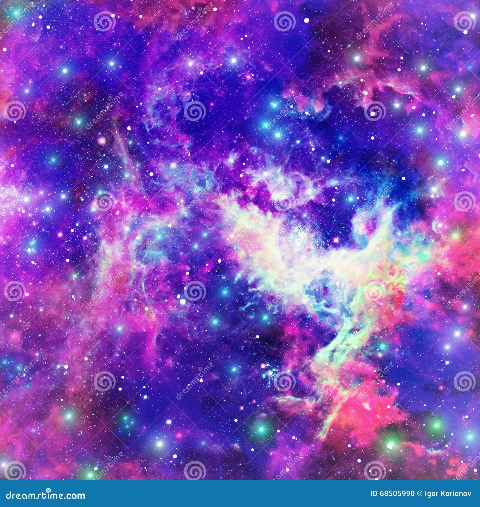 Пламенеющее межзвёздное облако звезды