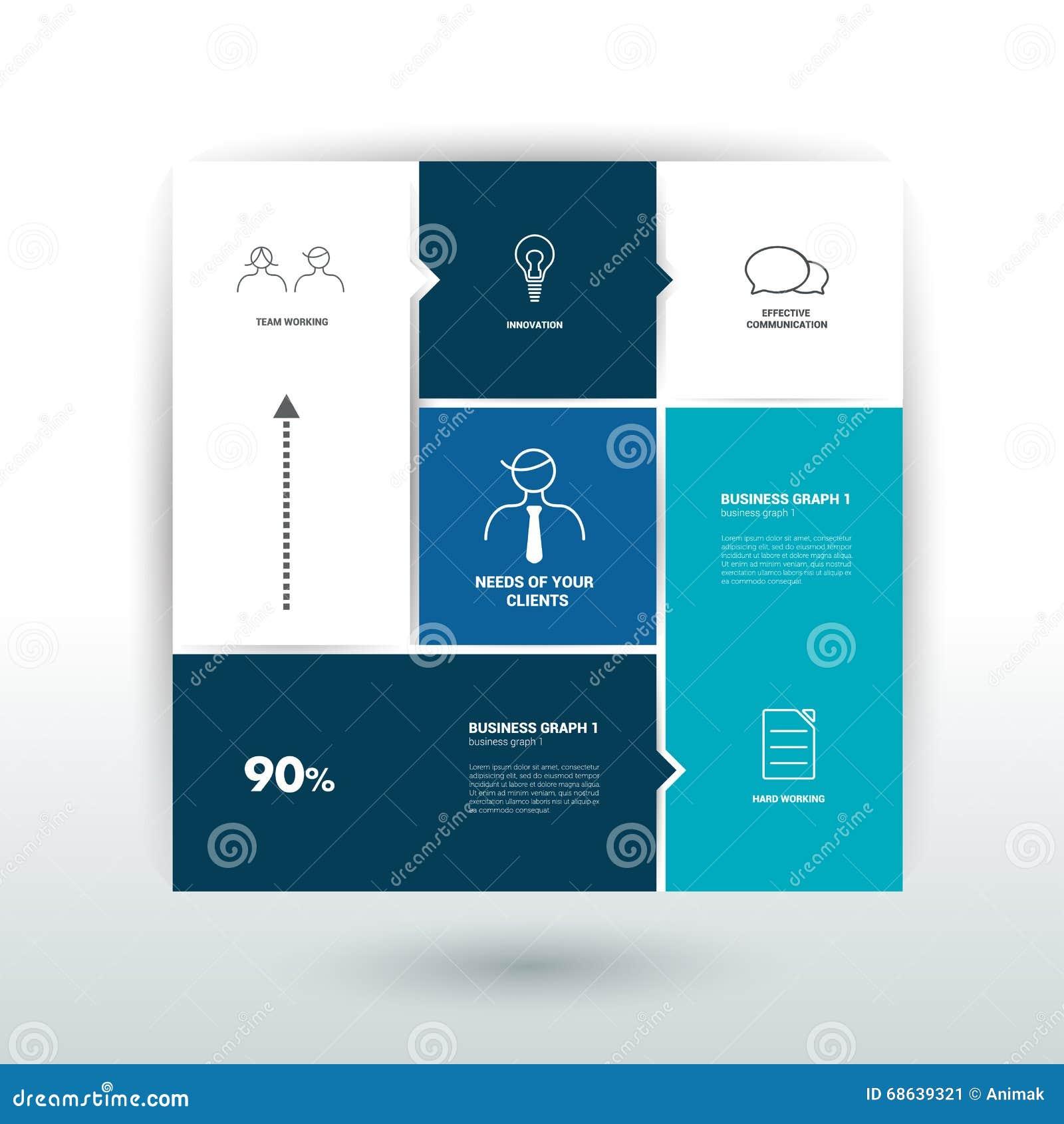 План-график, плата, знамя Дизайн вектора Minimalistic infographic