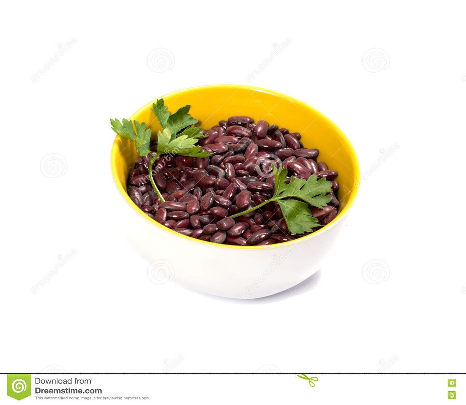Плита при сырцовый haricot украшенный с петрушкой