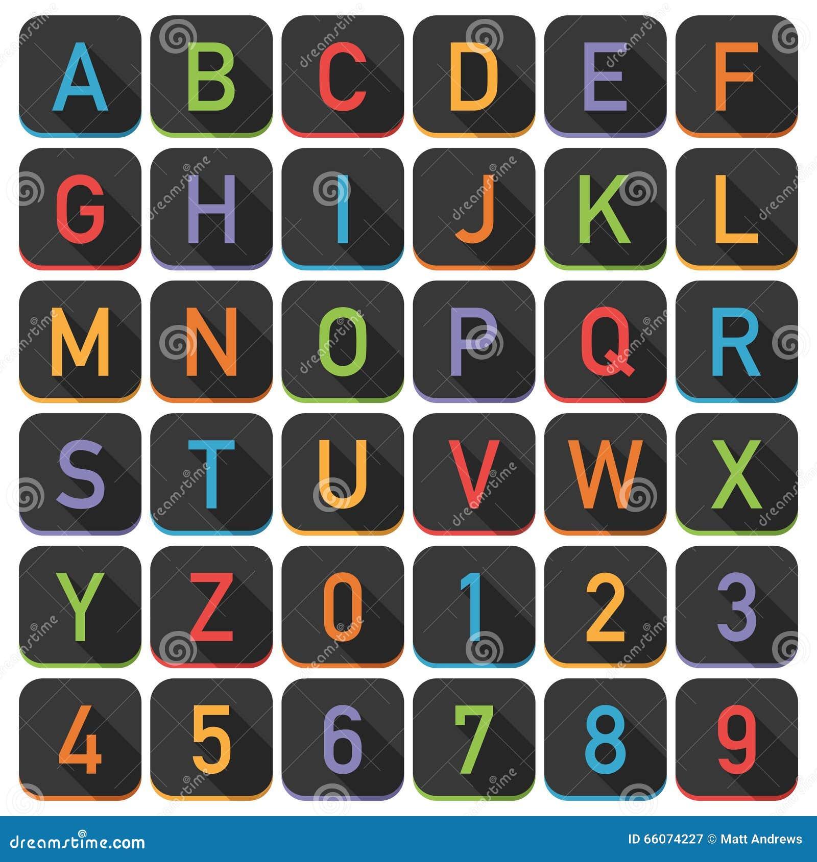 Плитки алфавита