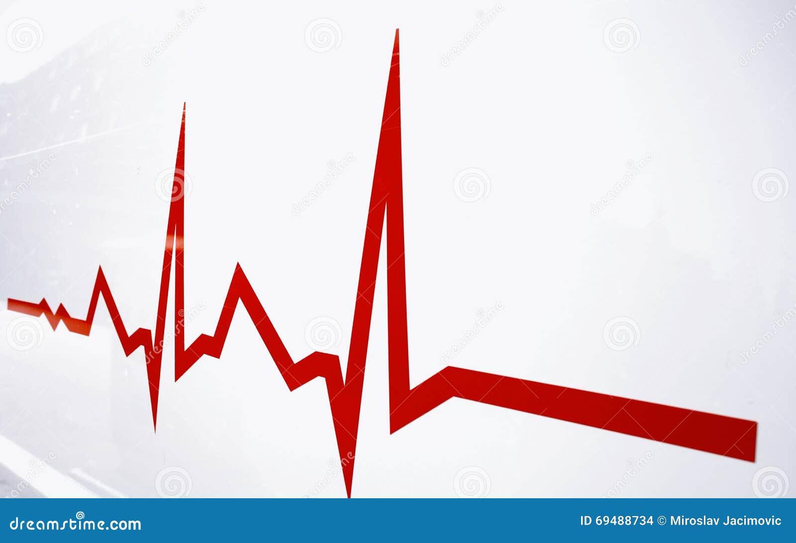Плоская линия сигнал тревоги на сердце