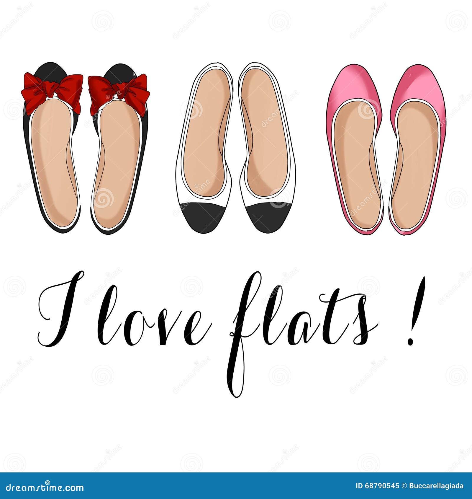 плоские ботинки