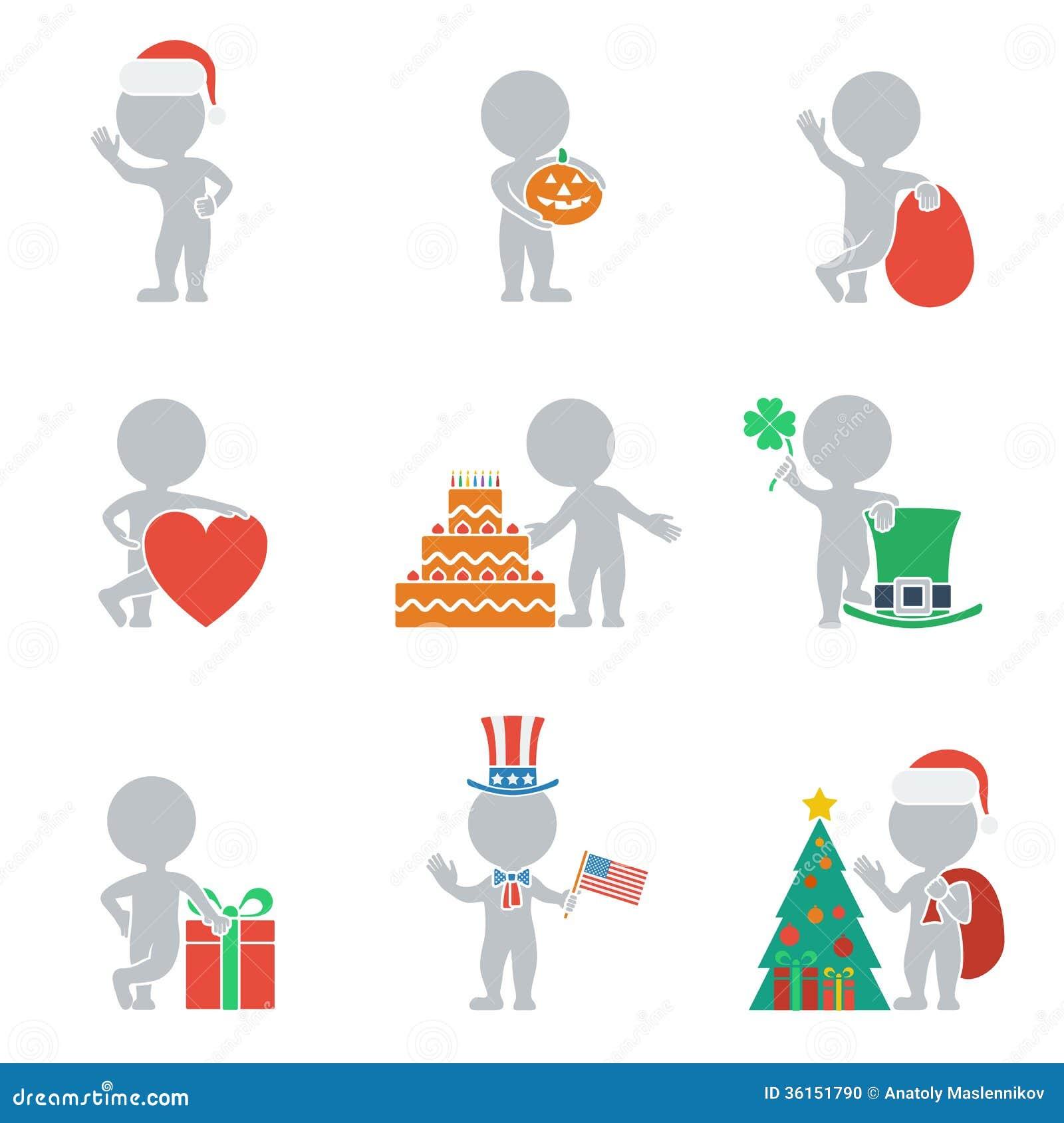 Плоские люди - праздники
