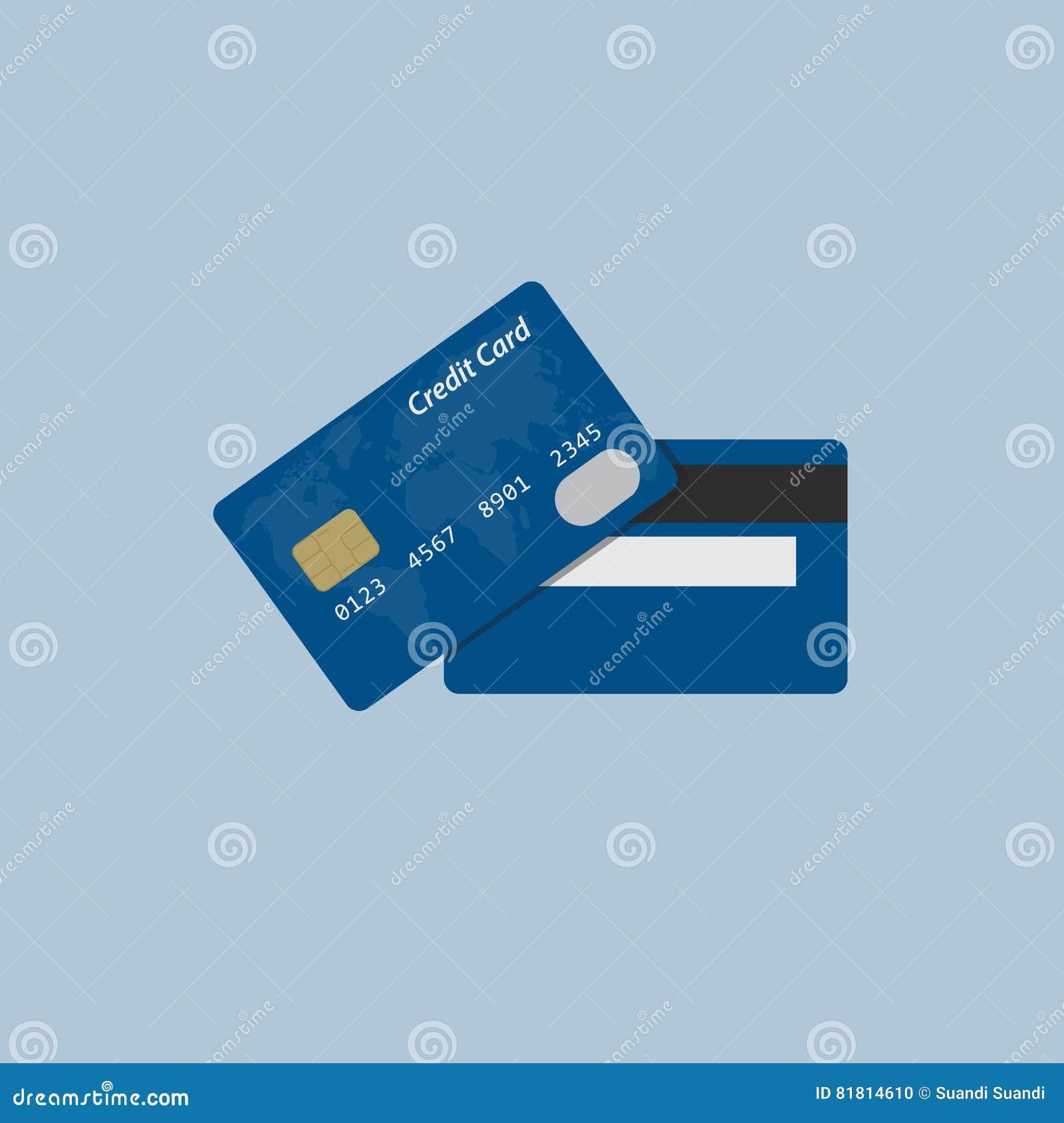 Плоский дизайн кредитной карточки