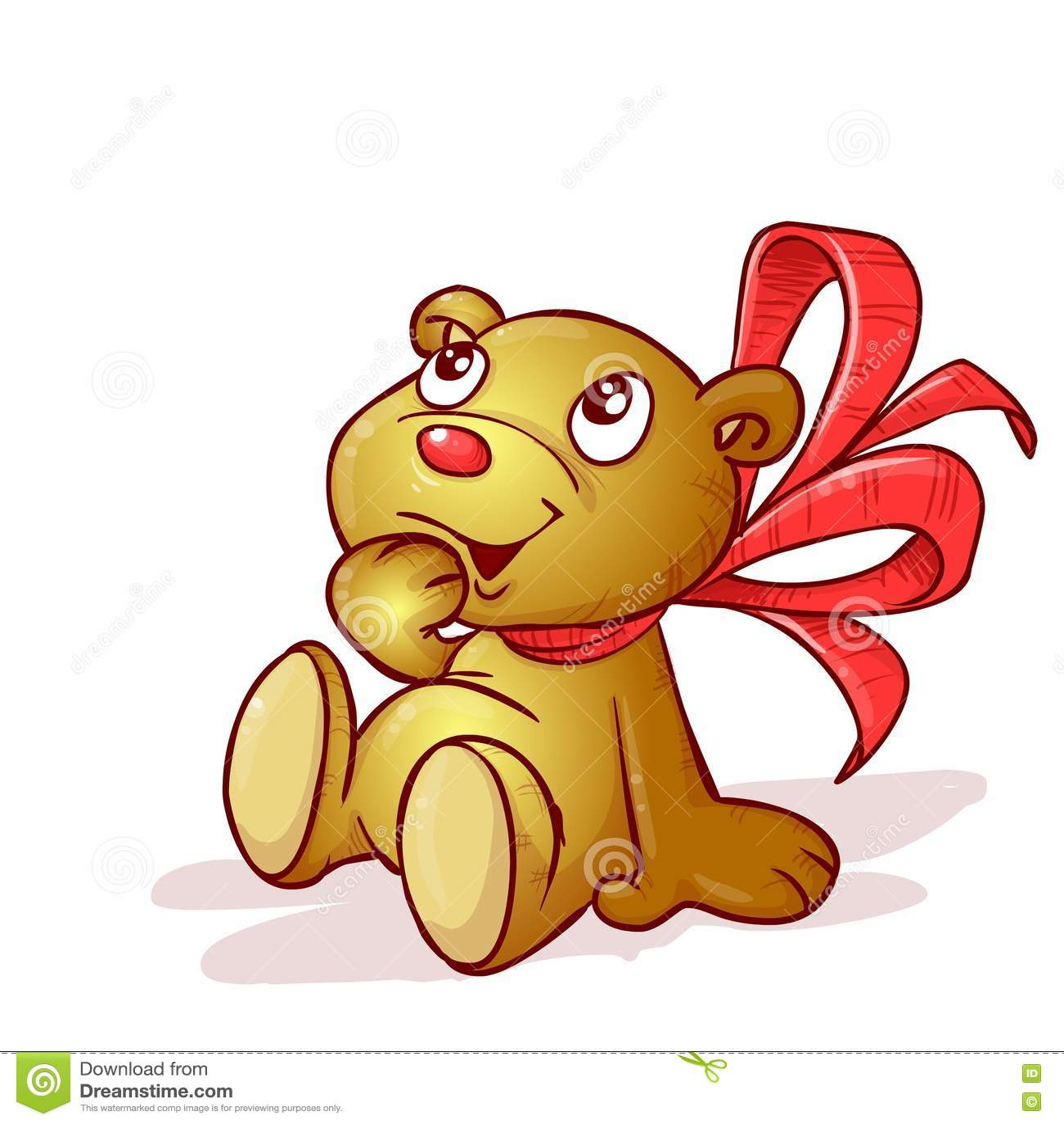 Плюшевый медвежонок с смычком