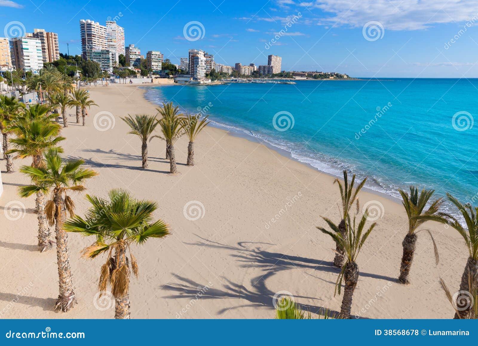 Пляж Аликанте Сан-Хуана Ла Albufereta