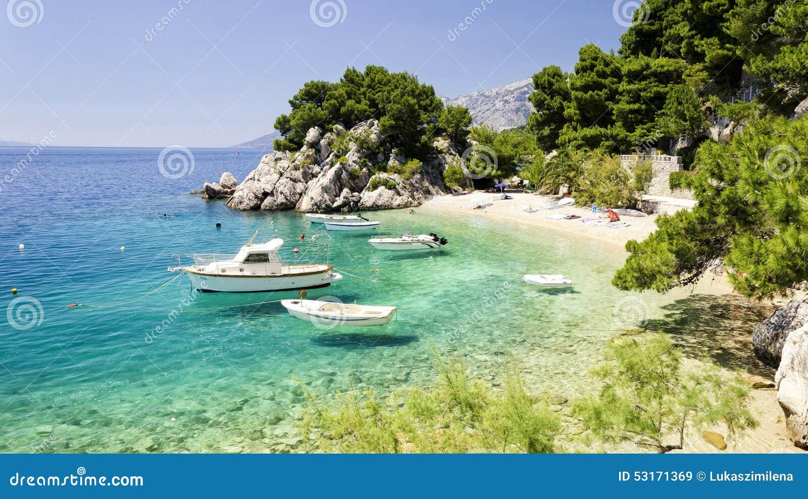 Пляж в Далмации, Хорватии
