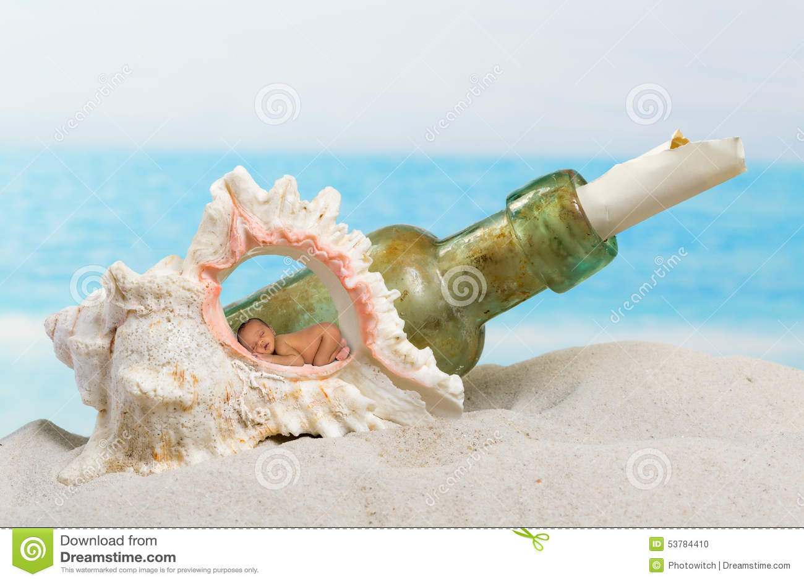 пляж младенца