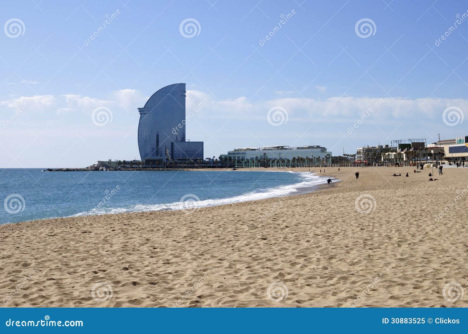 Пляж на Барселоне. Испания