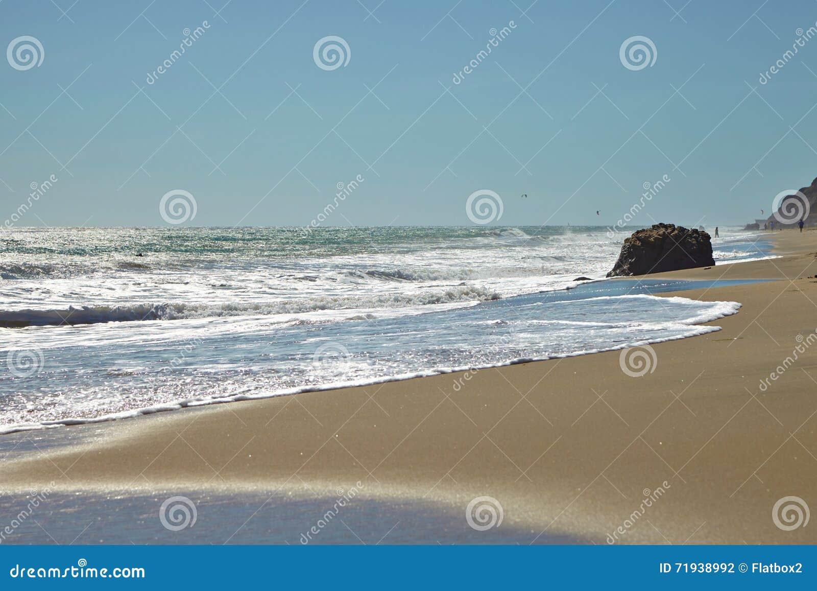 Пляж положения лагуны Malibu в Malibu,