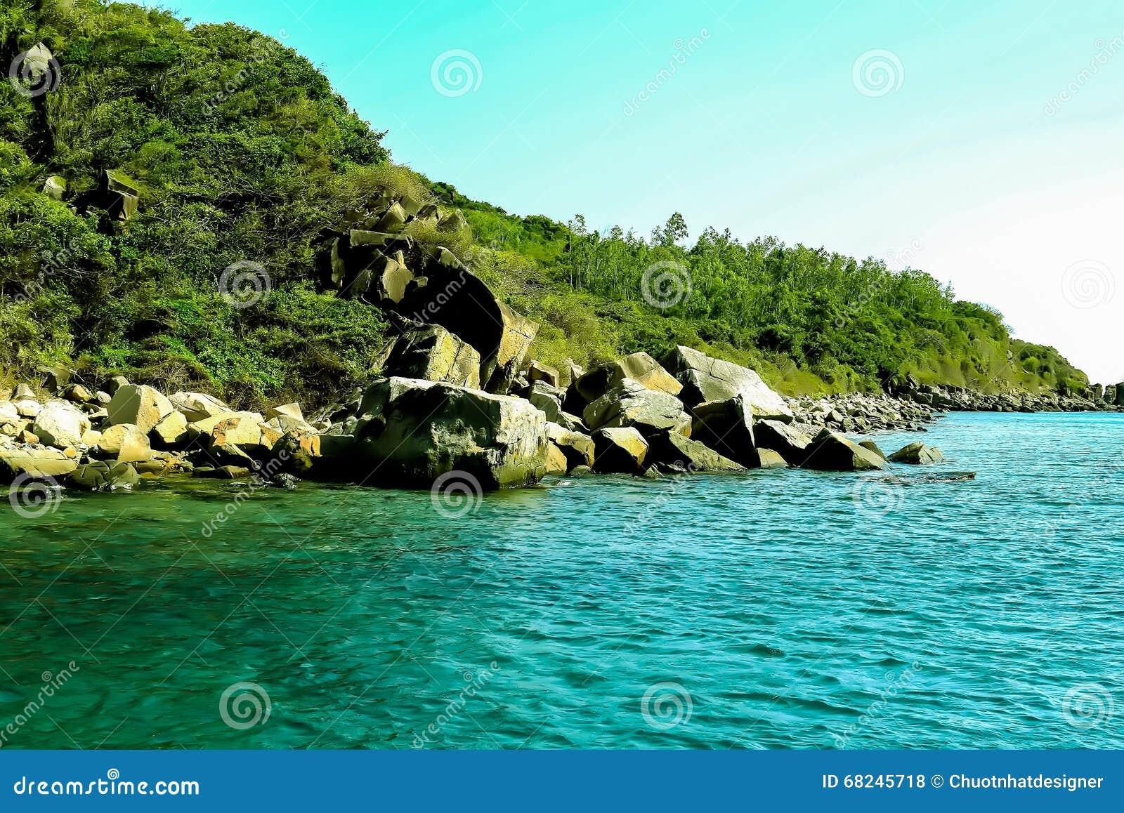 Пляж Bai Tranh, популярные туристские назначения на Nha Trang Вьетнам