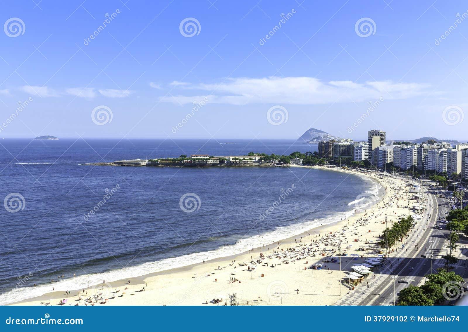 Пляж Copacabana, Рио-де-Жанейро