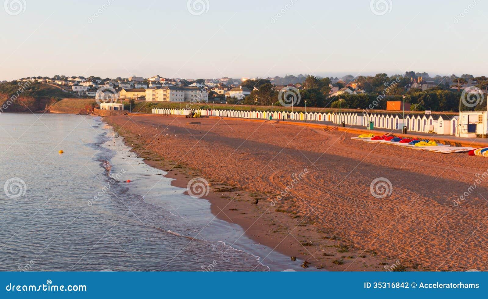 Пляж Goodrington около Paignton Девона Англии