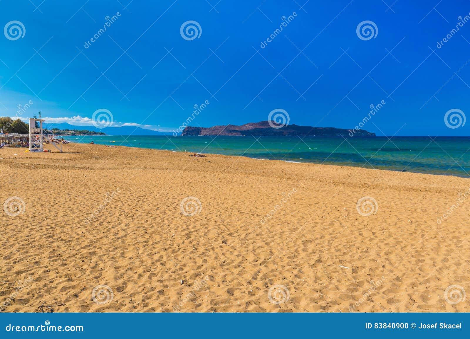 Пляж Kato Stalos, префектура Chania, западный Крит, Греция