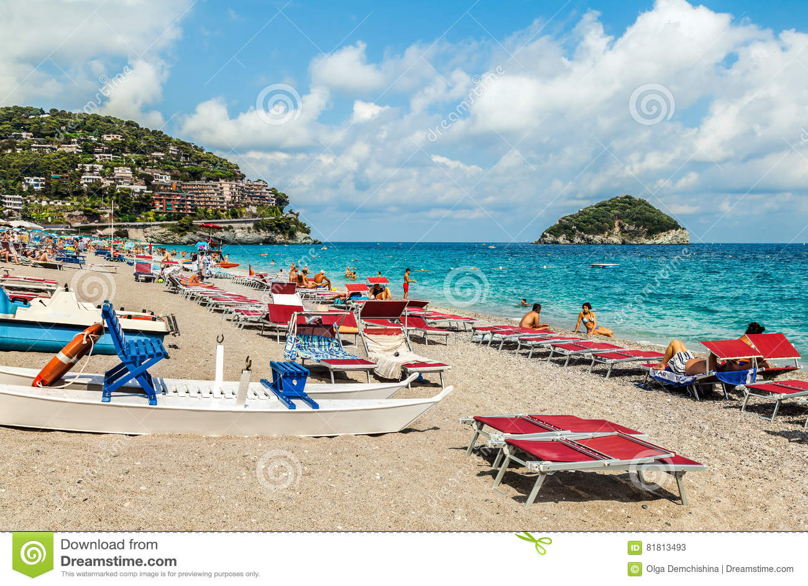 Пляж Spotorno, Италия