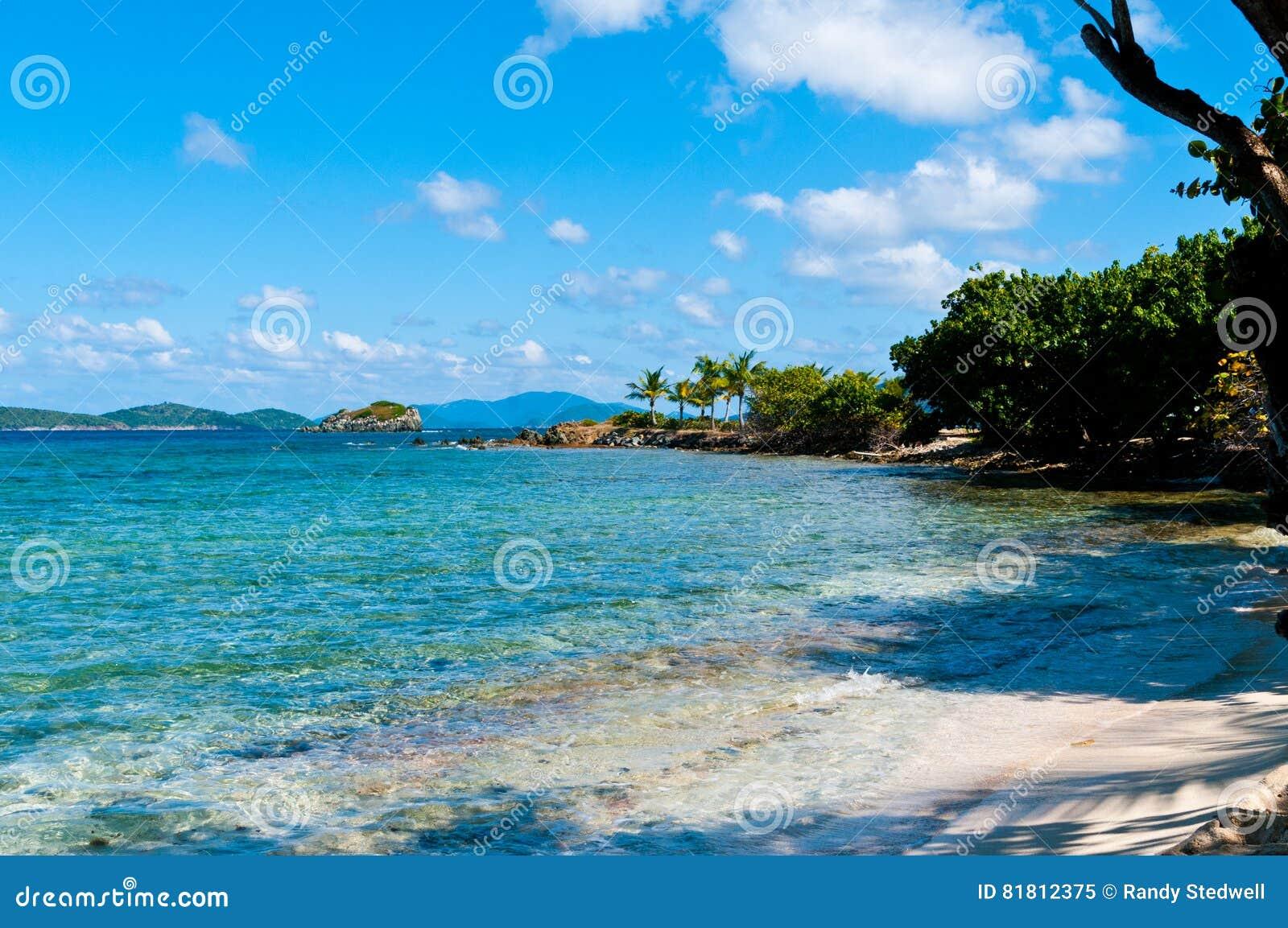 Пляж St. Thomas сапфира, US-VI
