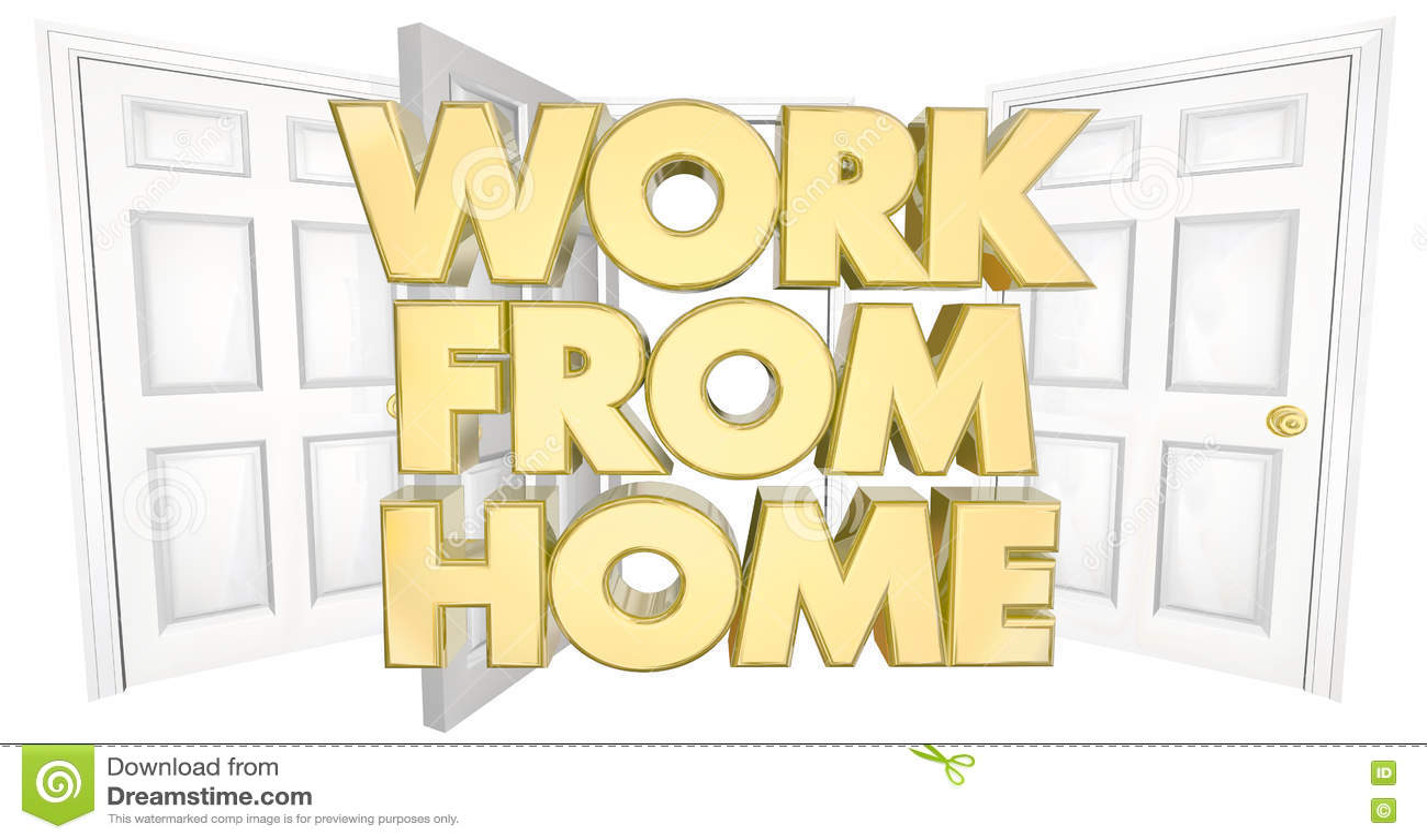 Download Работайте от иллюстрации слов 3d открыть двери домашнего бизнеса Иллюстрация штока - иллюстрации насчитывающей отверстие, внутрь: 72280352