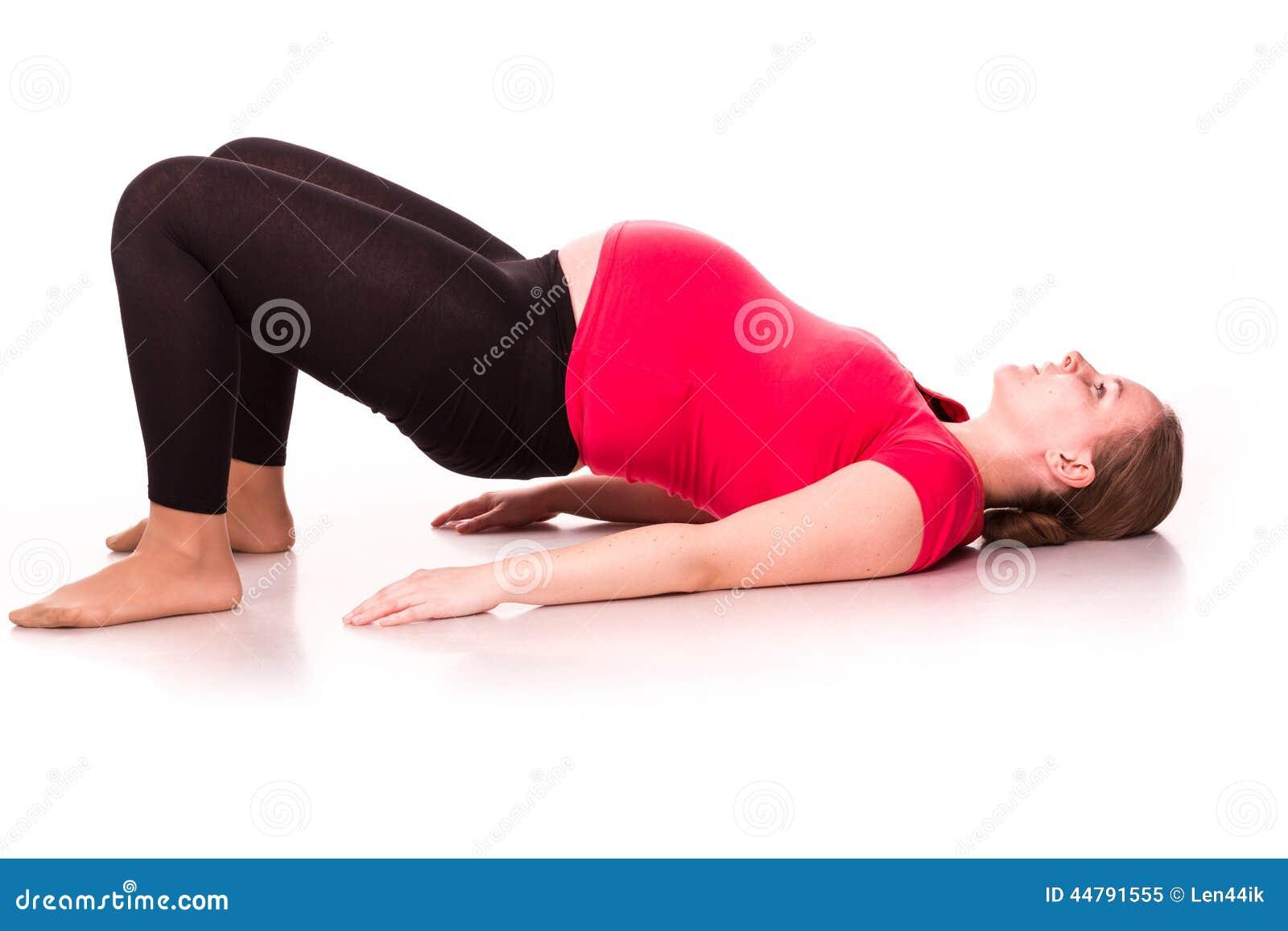 Работать беременной женщины изолированный на белизне
