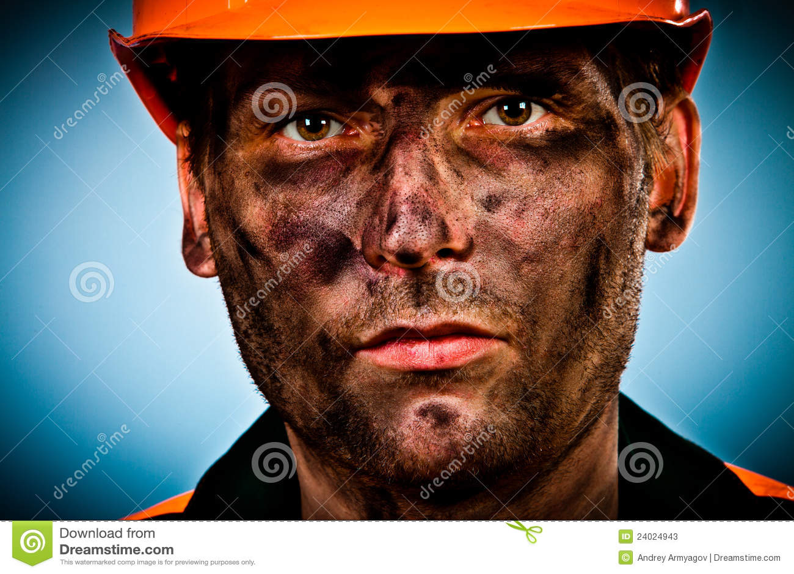 работник портрета масла индустрии